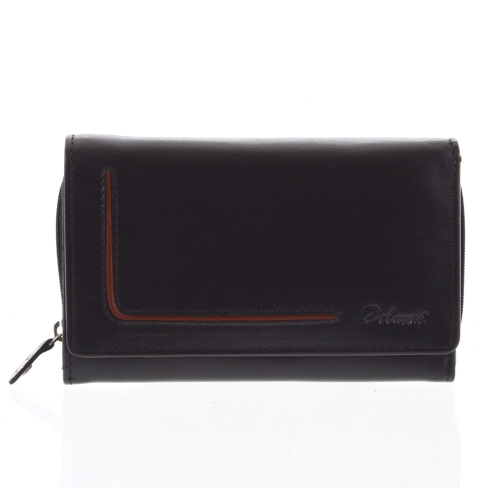 Dámska kožená peňaženka čierna - Delami Nuria