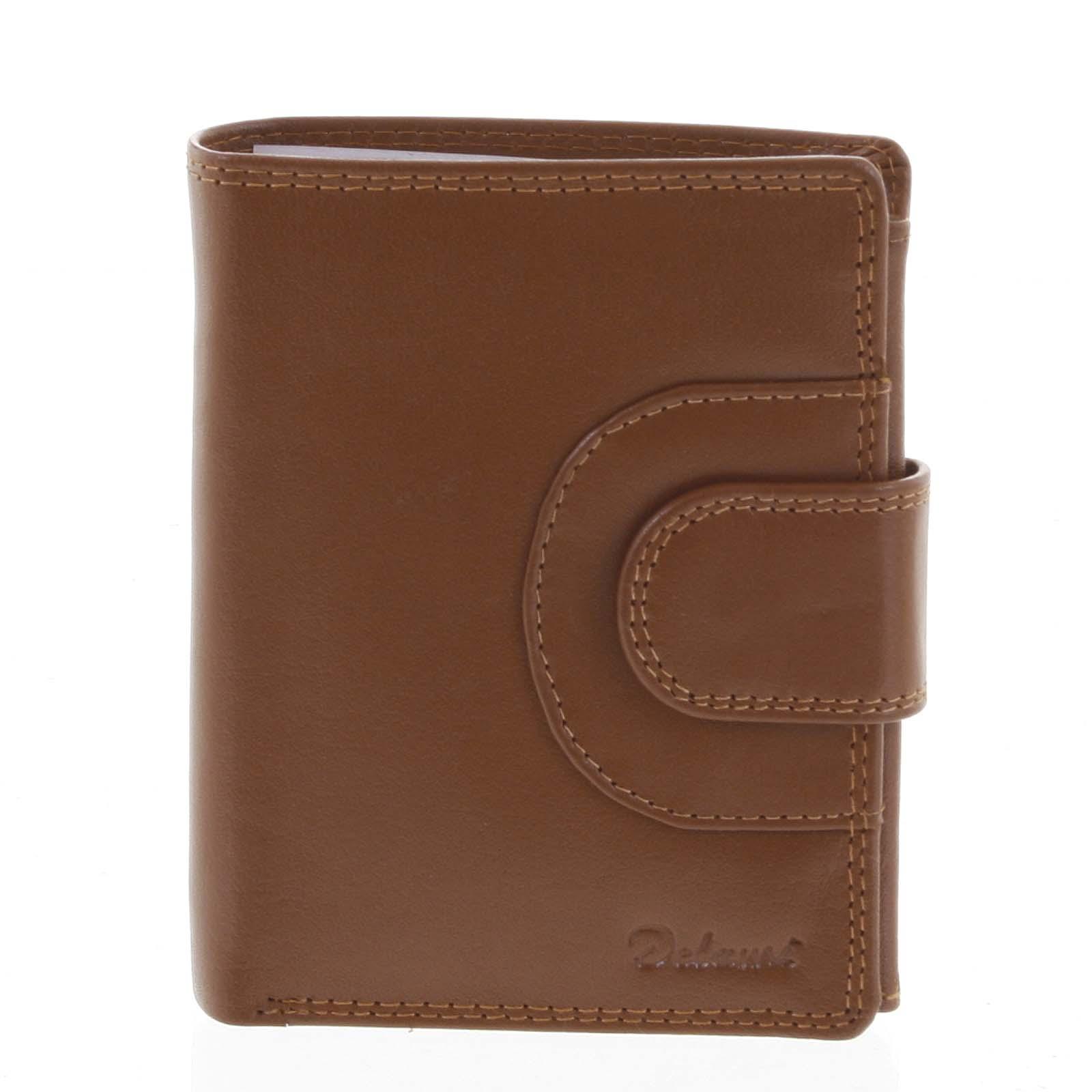 Pánska kožená peňaženka svetlohnedá - Delami Armando
