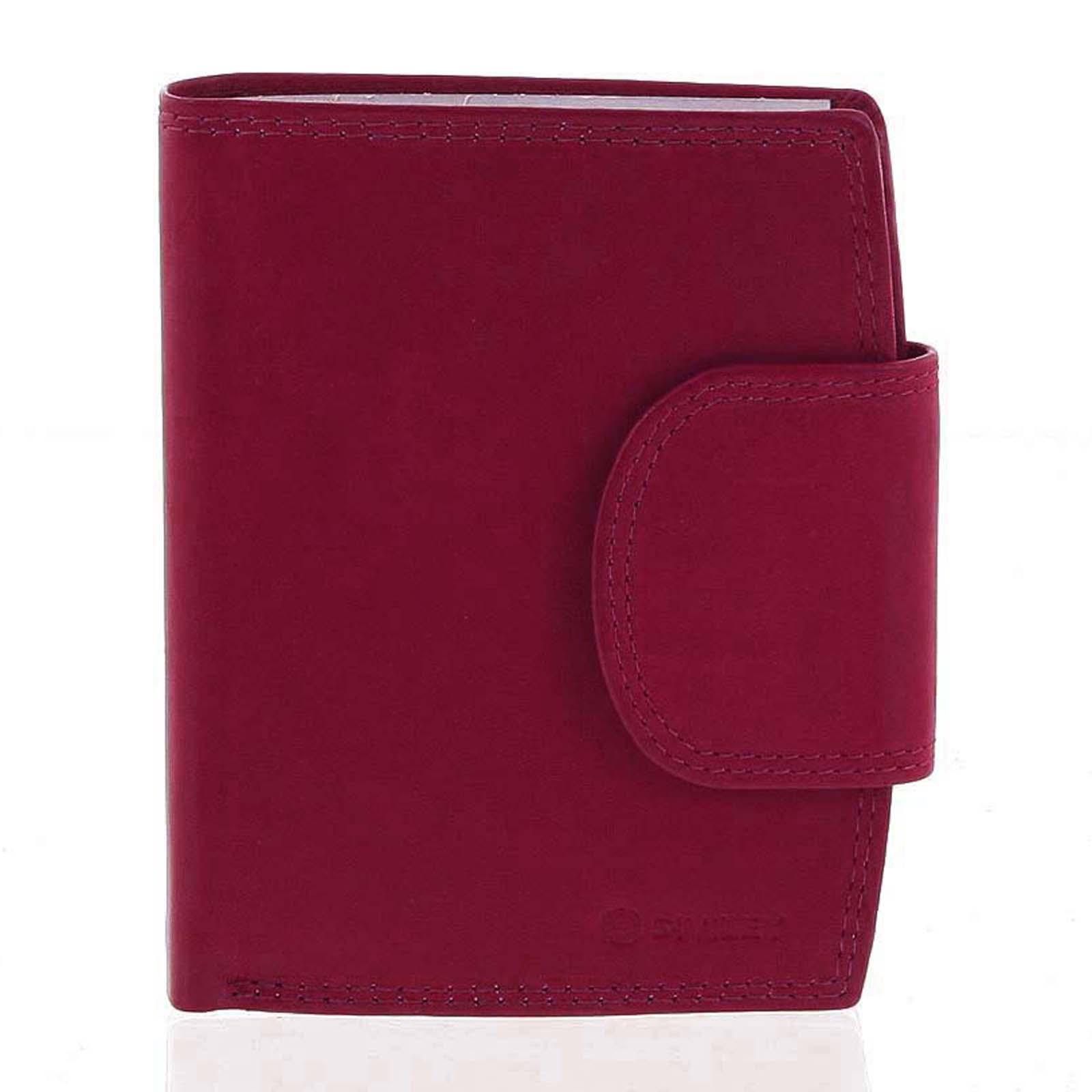 Elegantná červená kožená peňaženka so zápinkou - Diviley Universit
