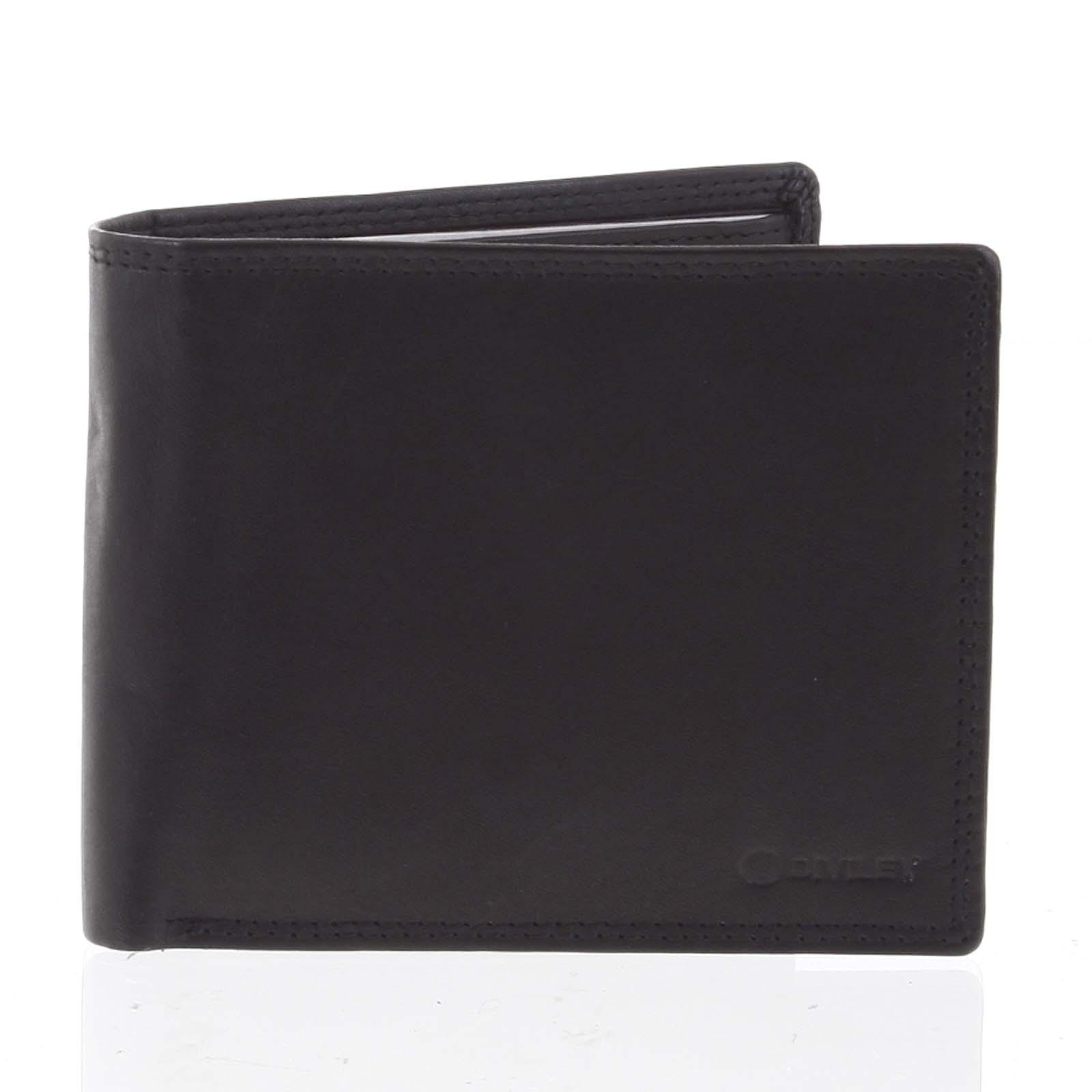 Praktická pánska voľná čierna peňaženka - Diviley Unibertsoa