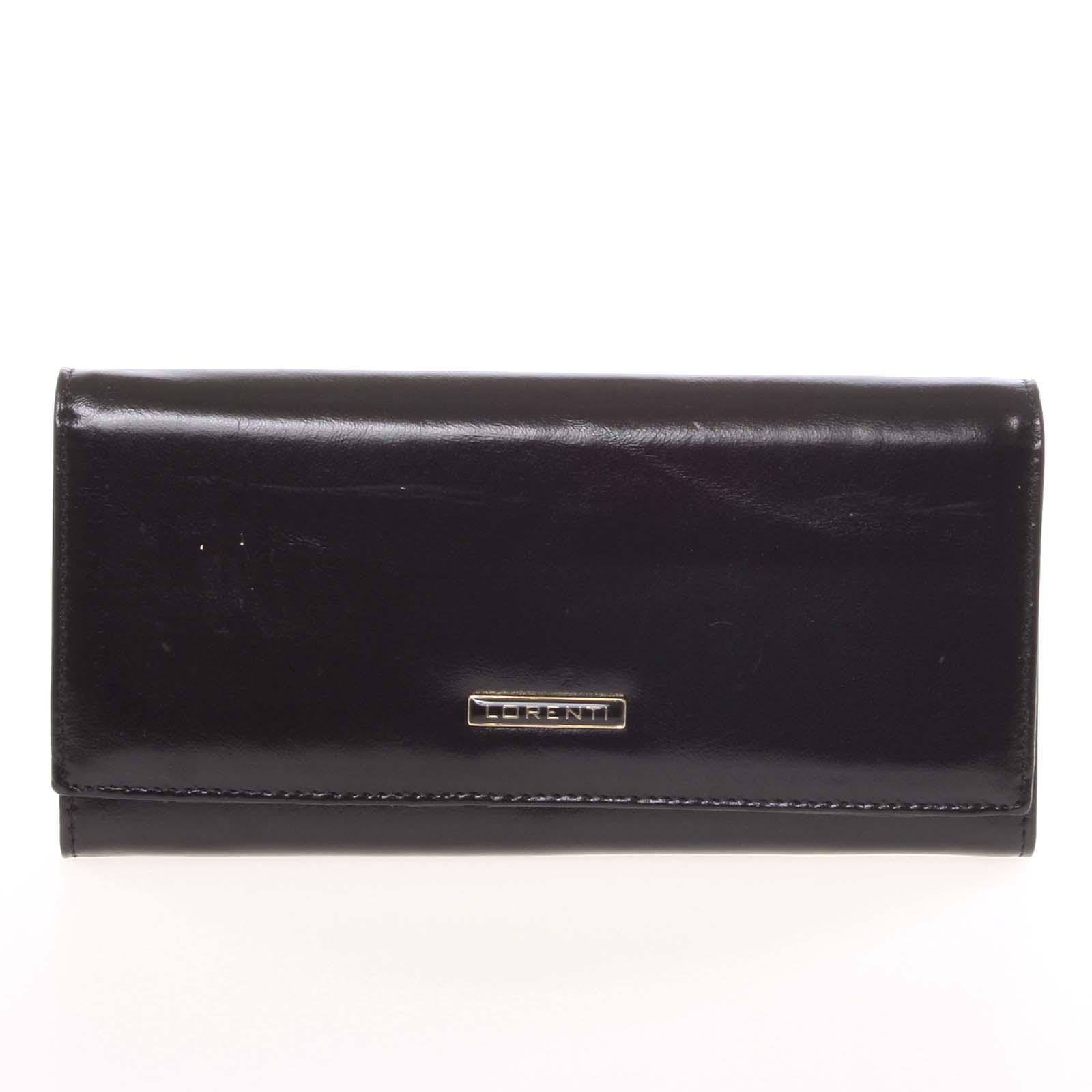 Luxusná hladká kožená čierna peňaženka - Lorenti 2401N