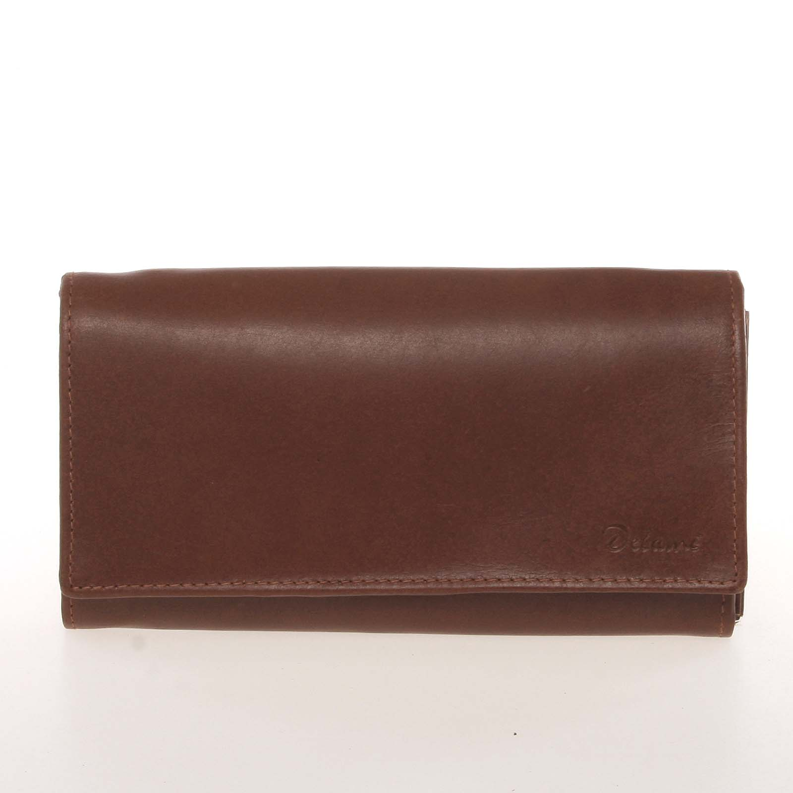 Dámska kožená hnedá peňaženka - Delami CHAGL04104