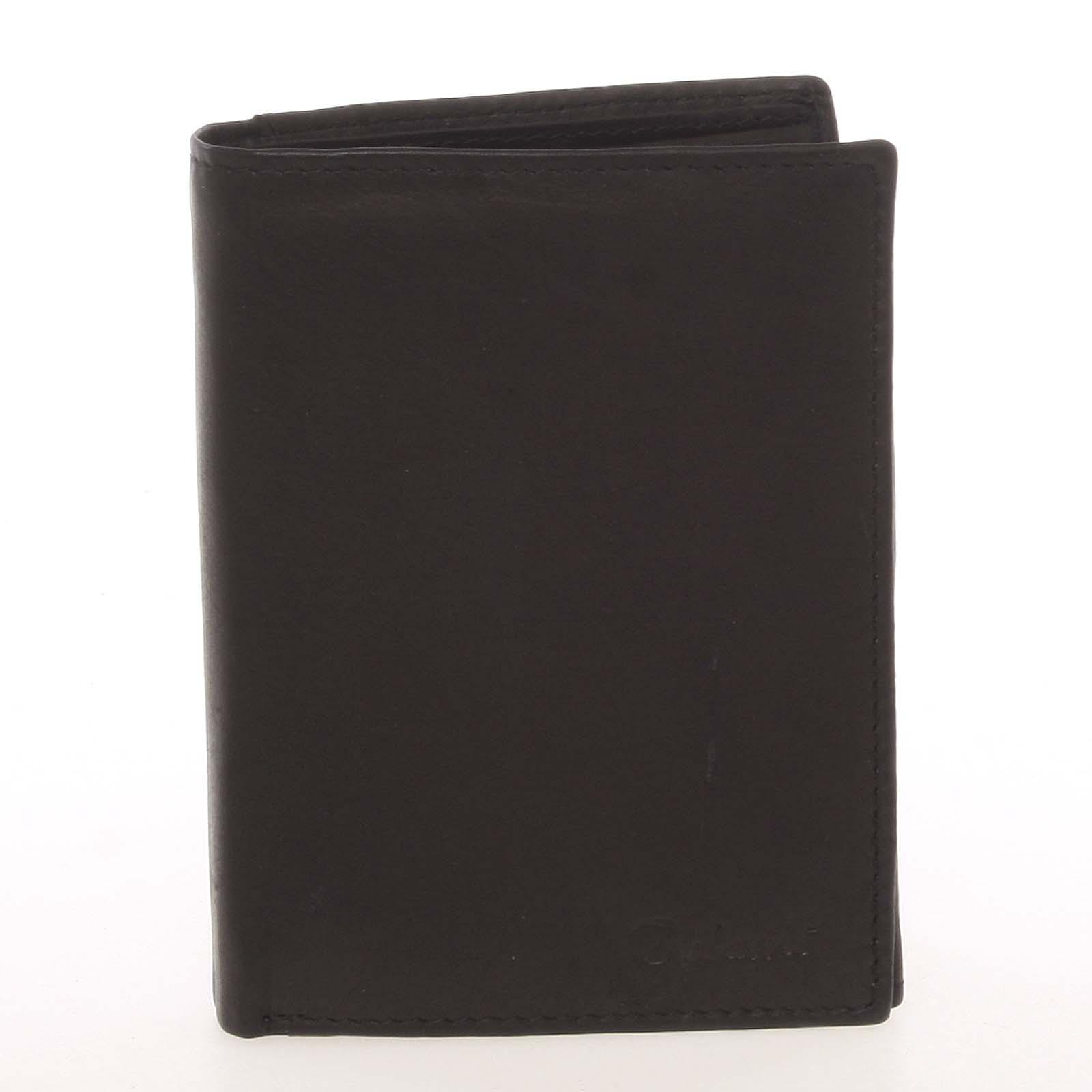 Pánska kožená čierna peňaženka - Delami Therron
