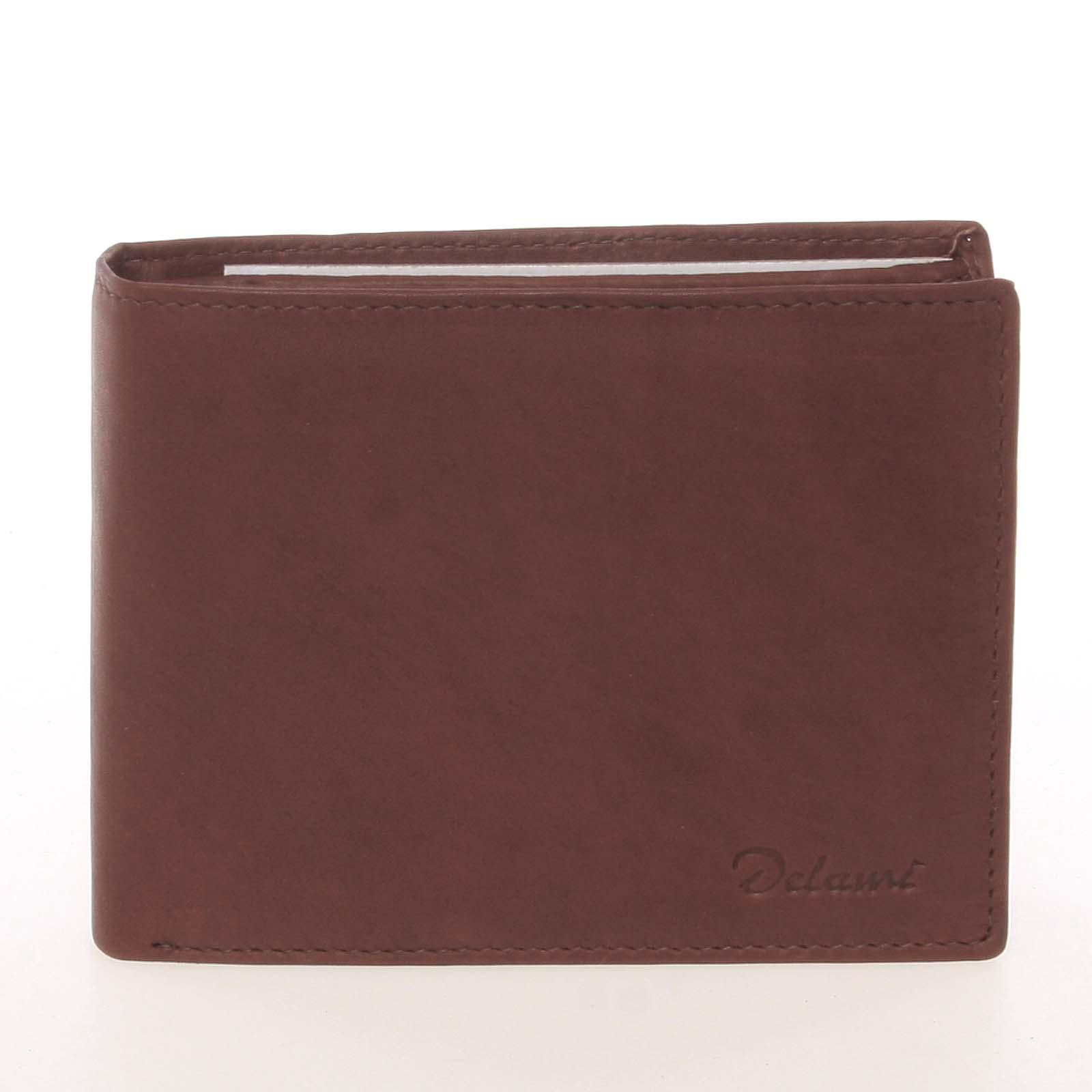 Kvalitná pánska kožená hnedá peňaženka - Delami Archard