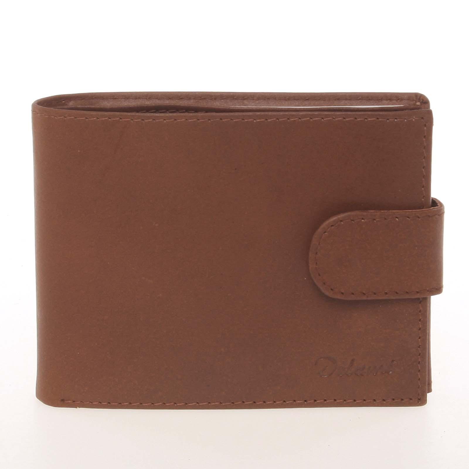 Pánska kožená svetlohnedá peňaženka - Delami Silvain