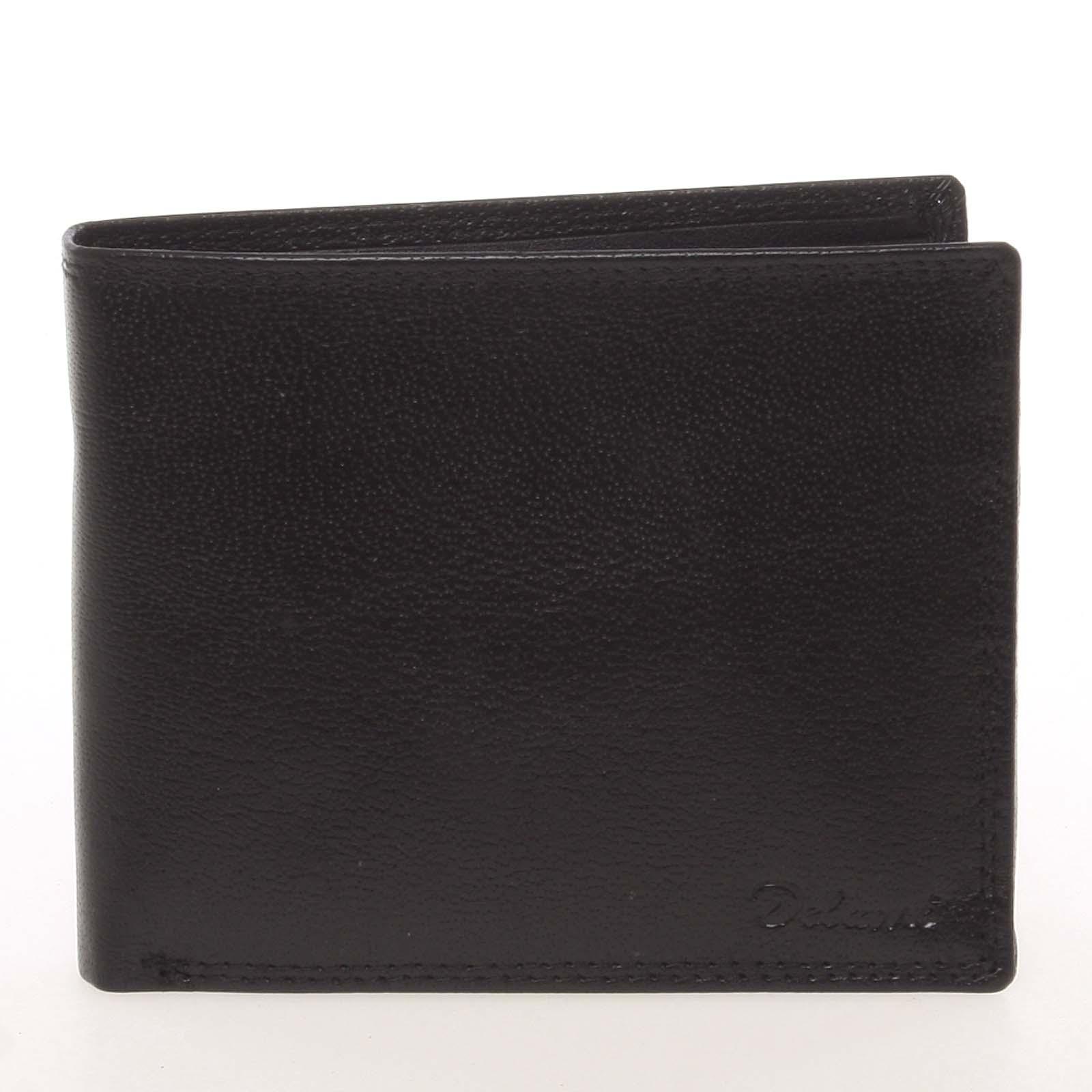 Kožená elegantná čierna peňaženka pre mužov - Delami Gaillard