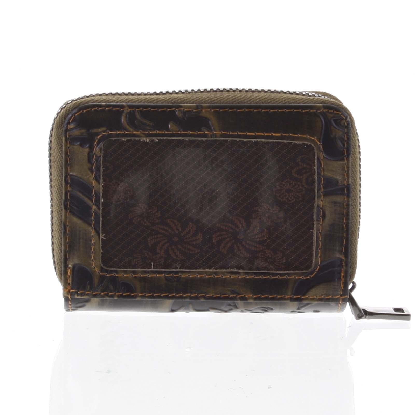 Malá dámska peňaženka kožená medená - Rovicky 5157