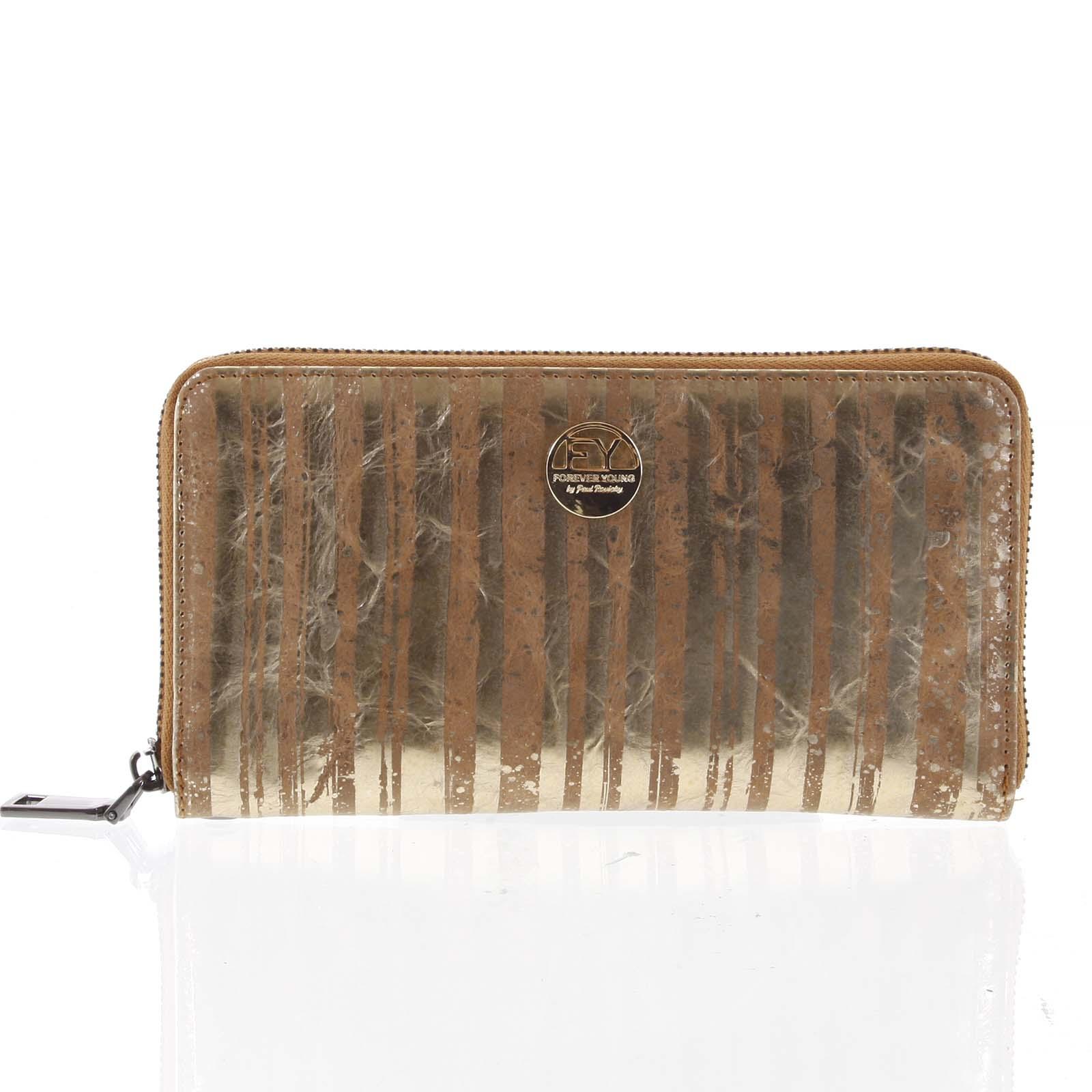 Luxusná dámska kožená peňaženka púzdro zlaté - Rovicky 76119