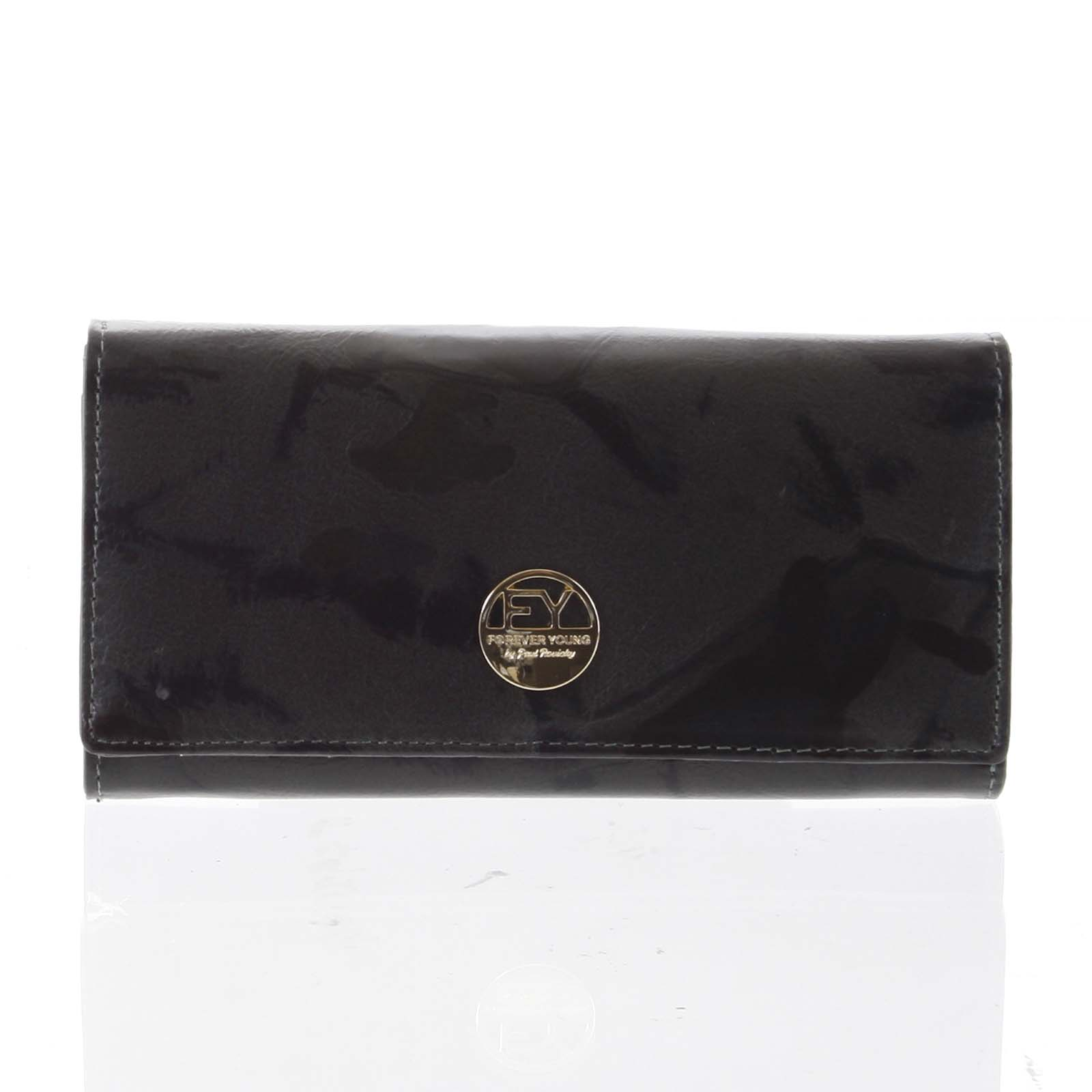 Elegantná dámska kožená peňaženka olivová - Rovicky 64003