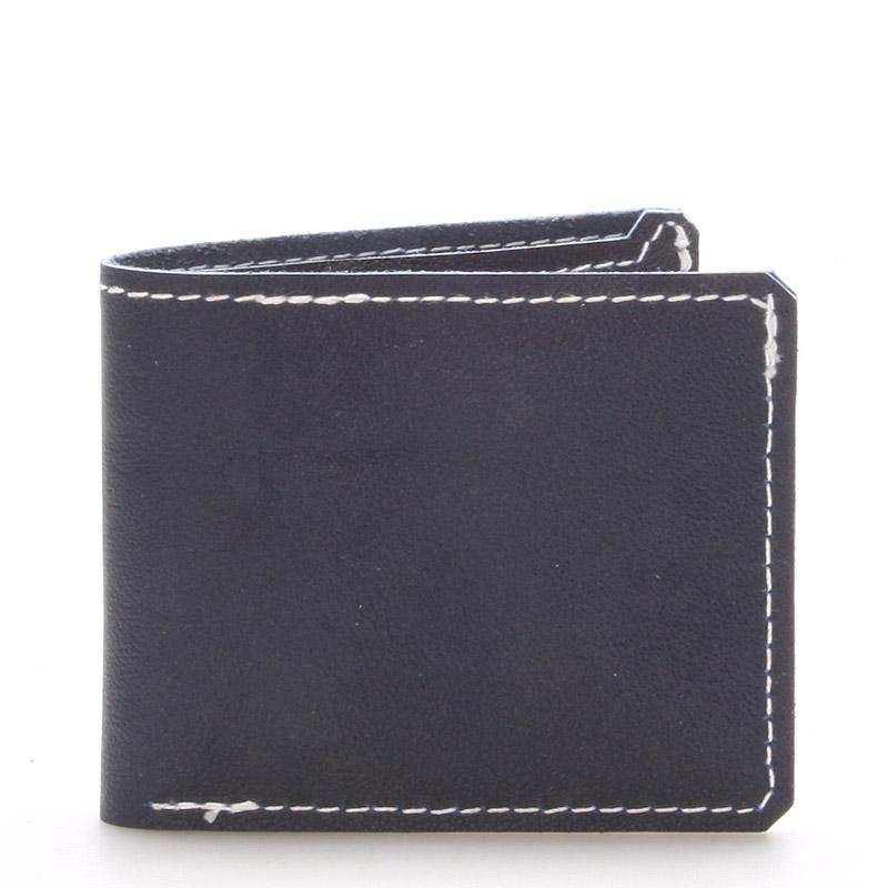 Luxusná modrá kožená peňaženka