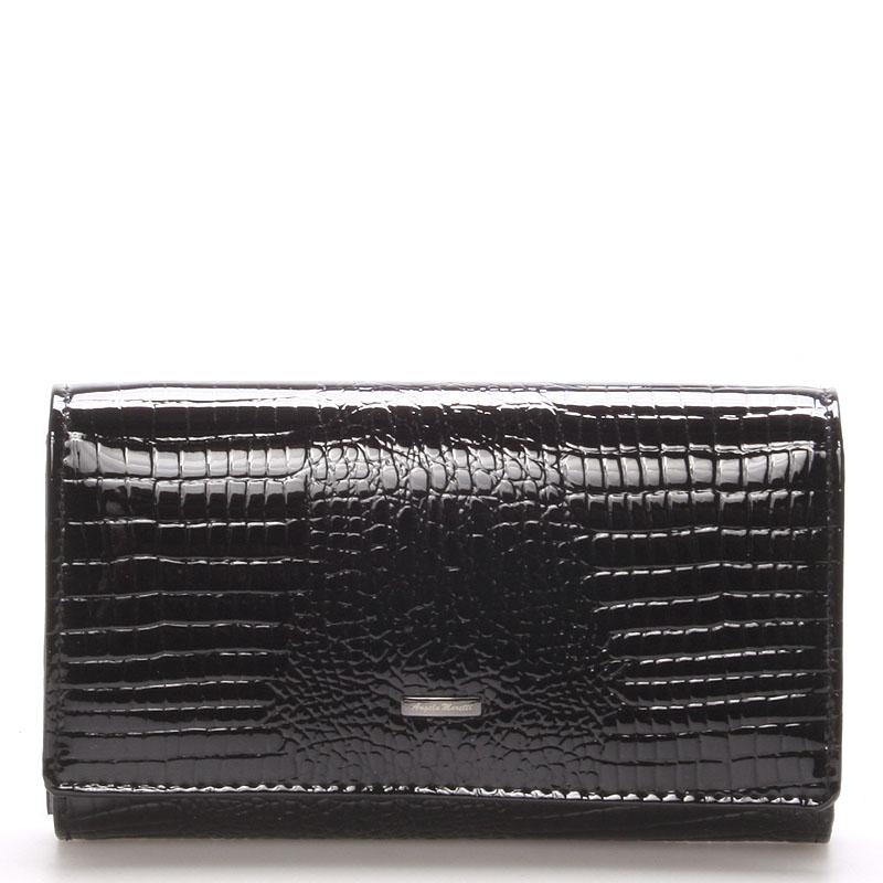 Čierna dámska kožená peňaženka Angela Moretti WL22