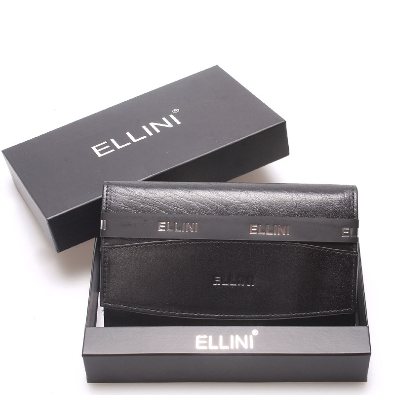 Klasická elegantná kožená čierna peňaženka - Ellina Daré