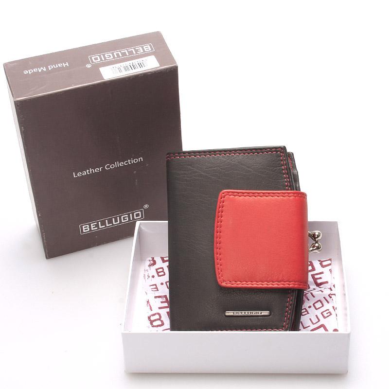 Luxusná dámska kožená peňaženka čierna - Bellugio Armi