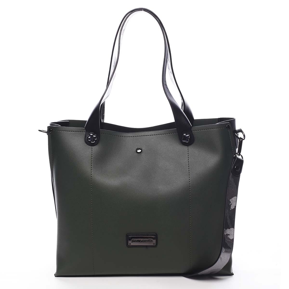 Dámska kabelka cez plece zelená - Pierre Cardin Ellie