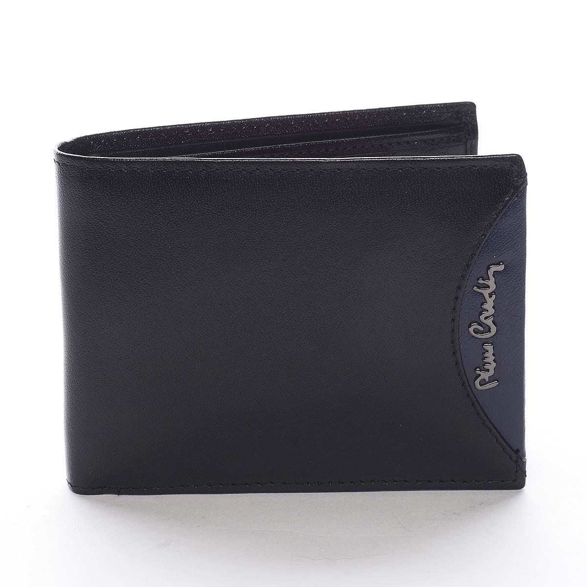 Pánska kožená peňaženka čierna - Pierre Cardin Ludmar Blue