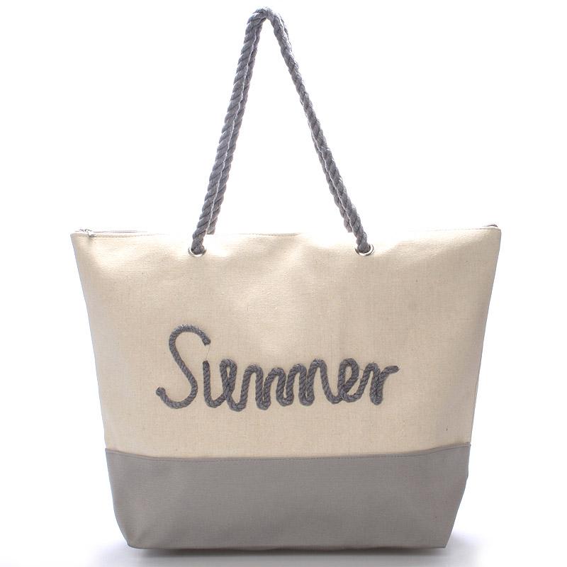 Plážová sivá taška Summer - Delami Sunline
