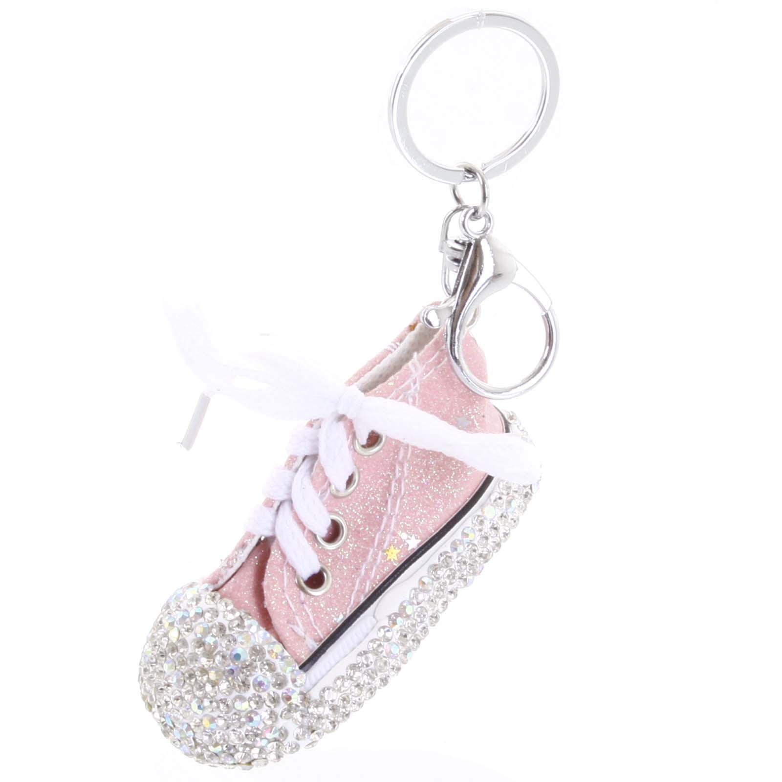 Prívesok na kabelku ružový - teniska