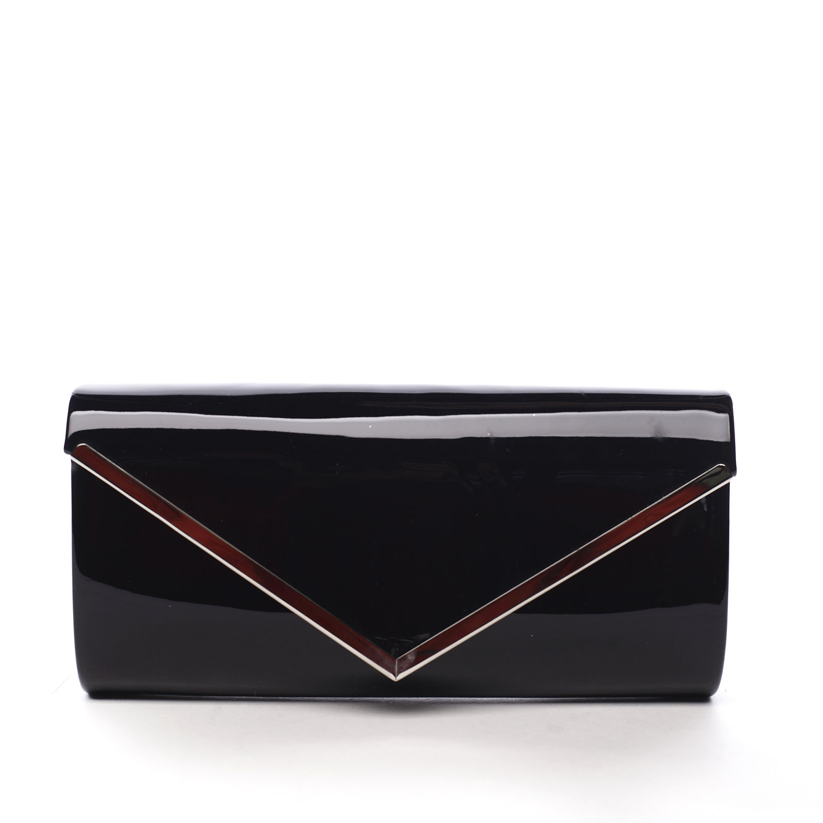 Dámska lakovaná listová kabelka čierna - Michelle Moon None