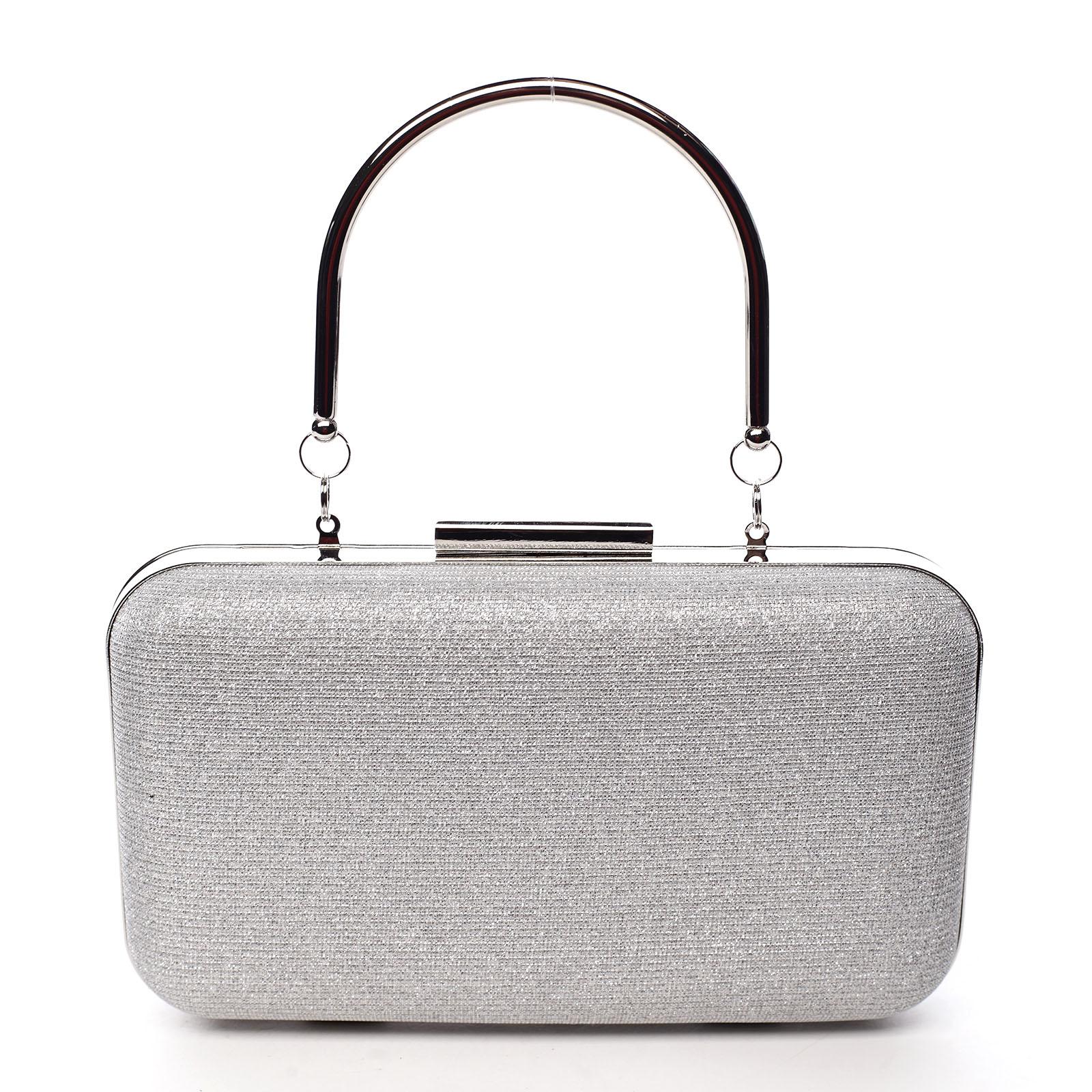 Dámska listová kabelka strieborná - Michelle Moon S101