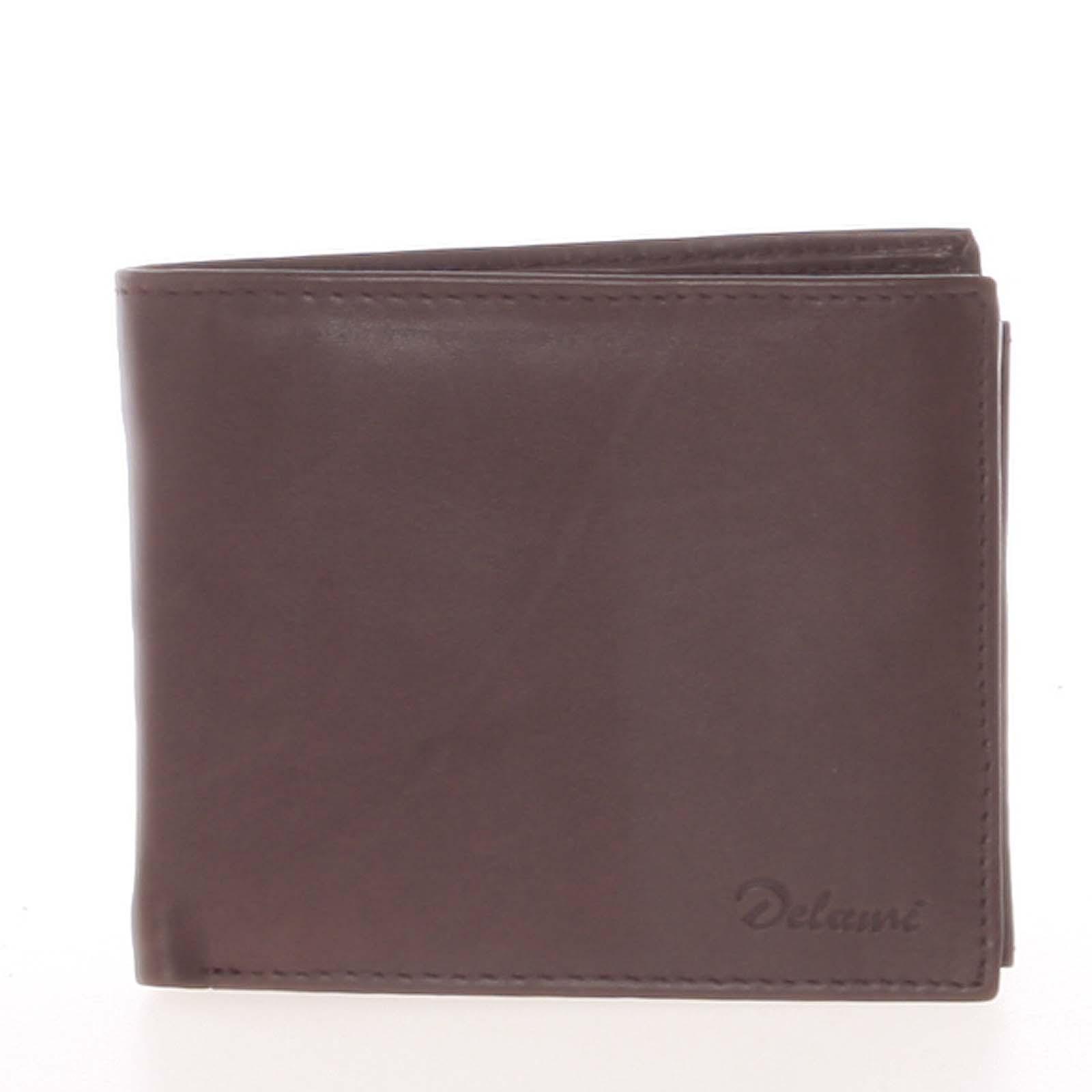 Pánska kožená peňaženka hnedá - Delami Five