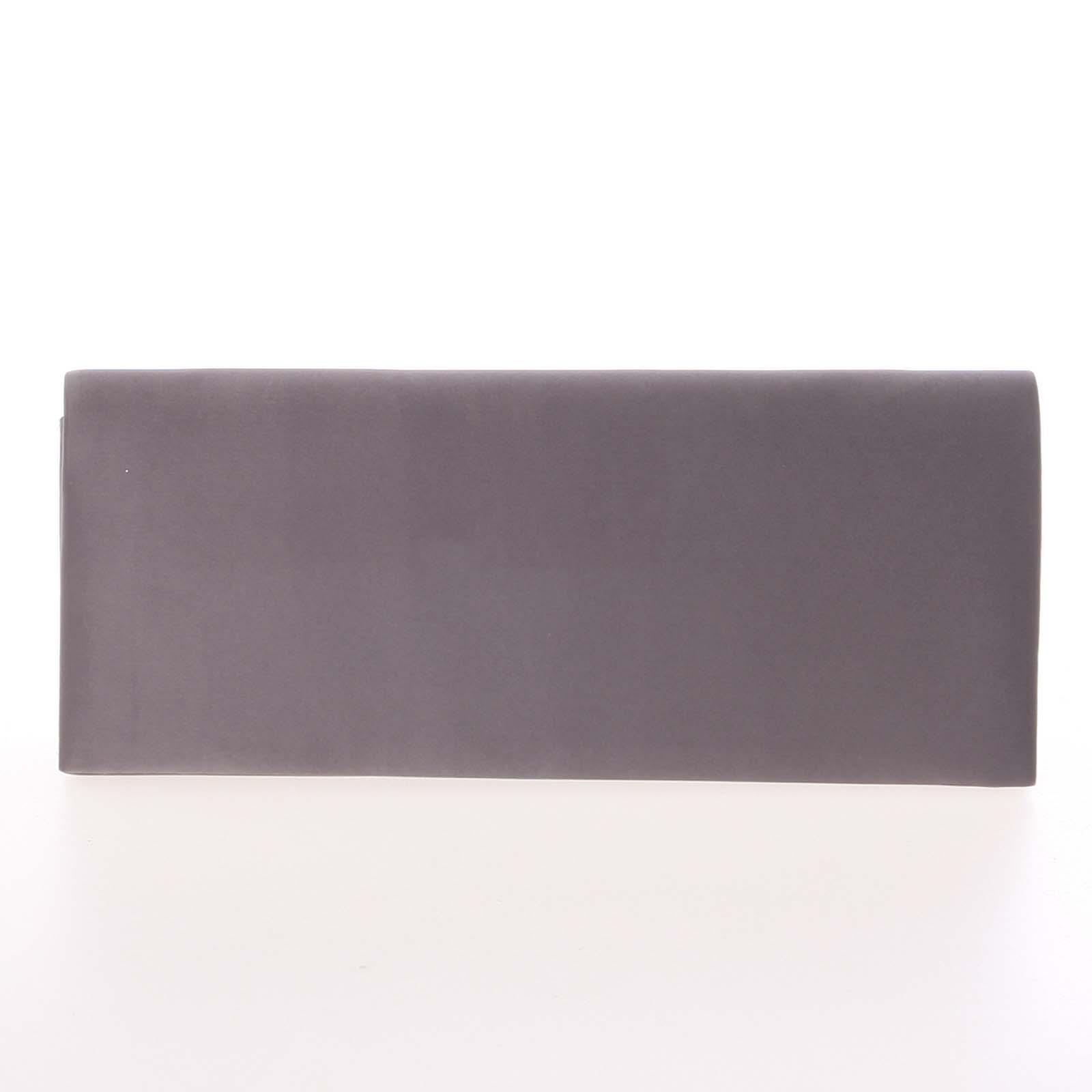 Decentná saténová listová kabelka tmavosivá - Delami P355