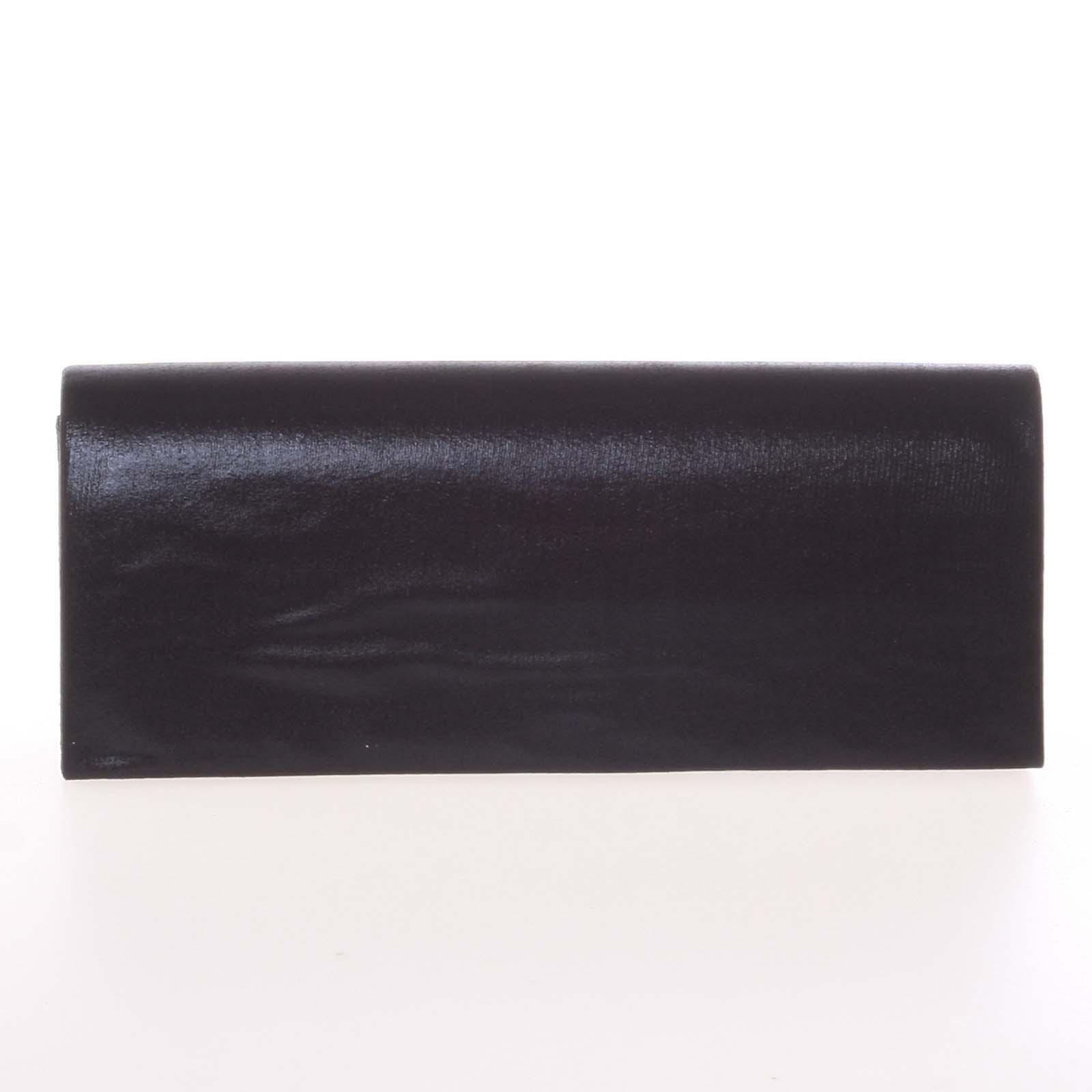 Decentná saténová listová kabelka čierna - Delami P355