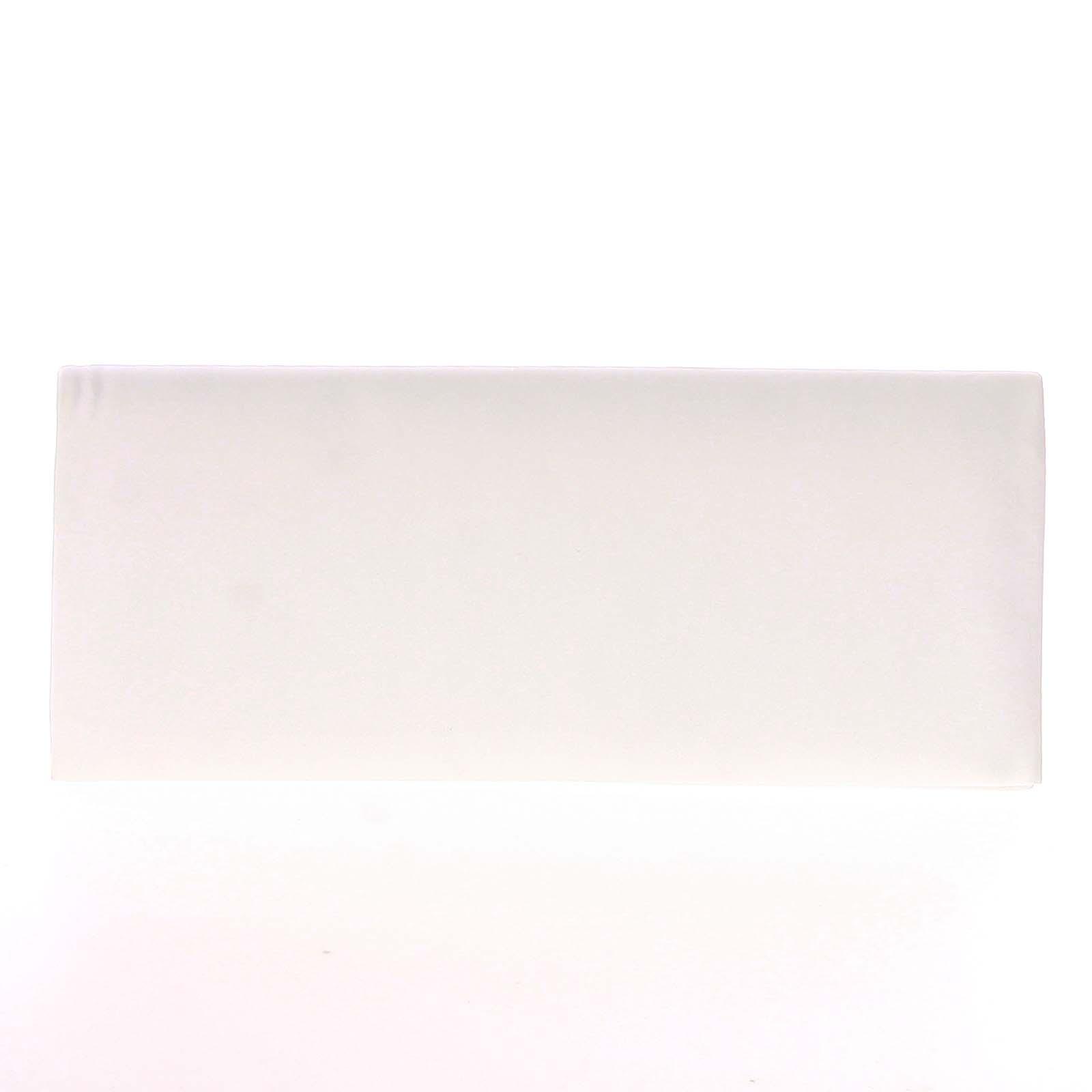 Decentná saténová listová kabelka biela - Delami P355
