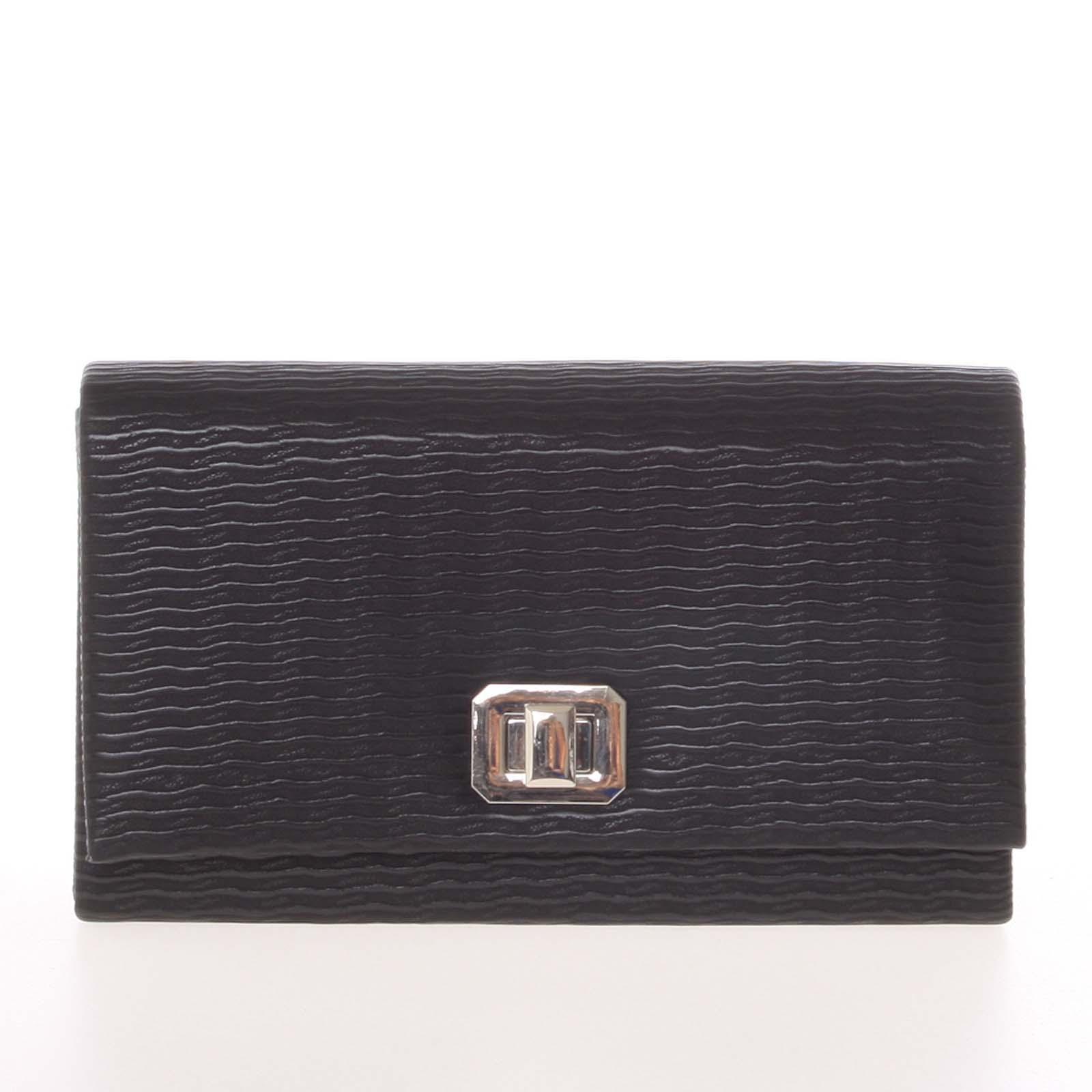 Módna dámska vzorovaná listová kabelka čierna - Delami D694