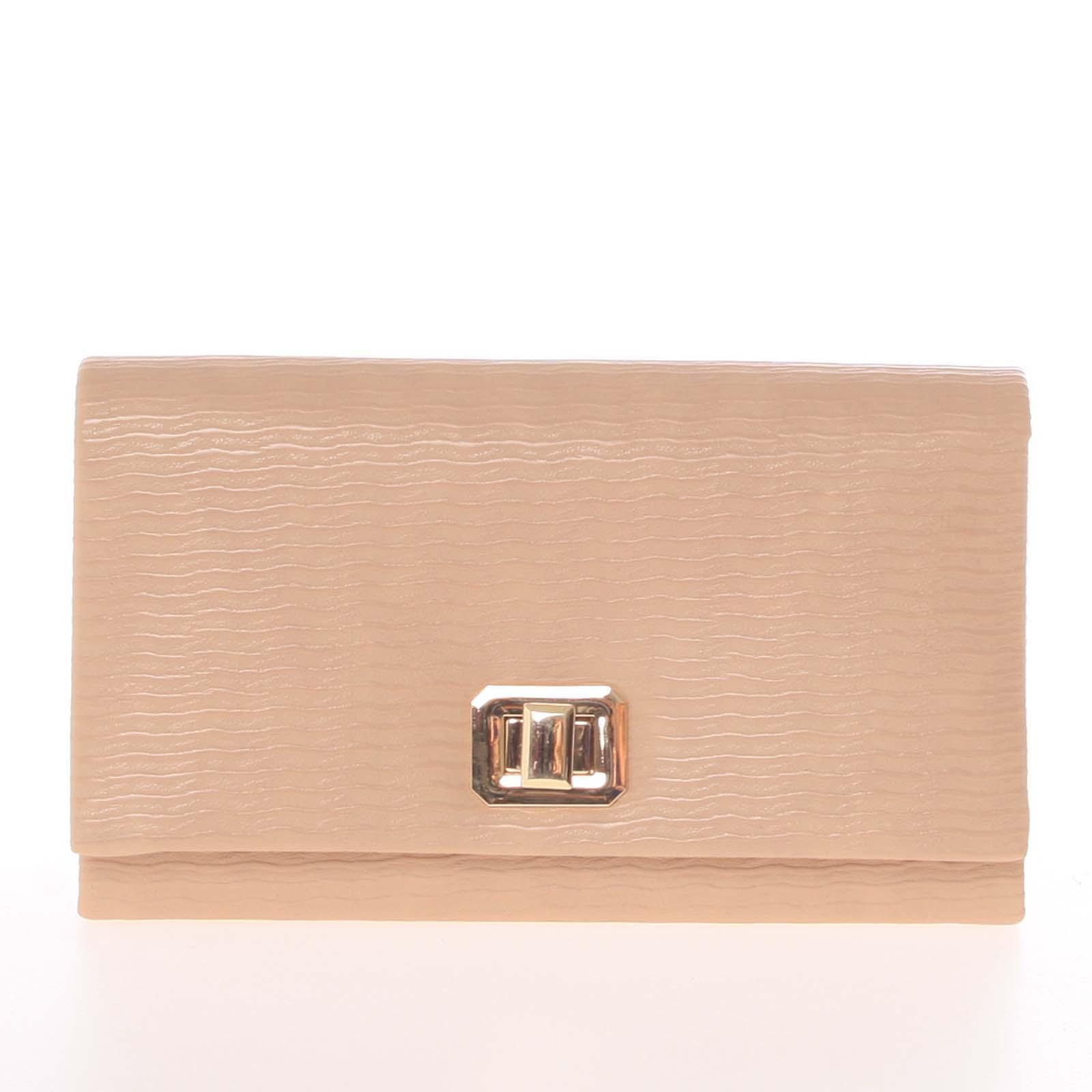 Módna dámska vzorovaná listová kabelka marhuľová - Delami D694