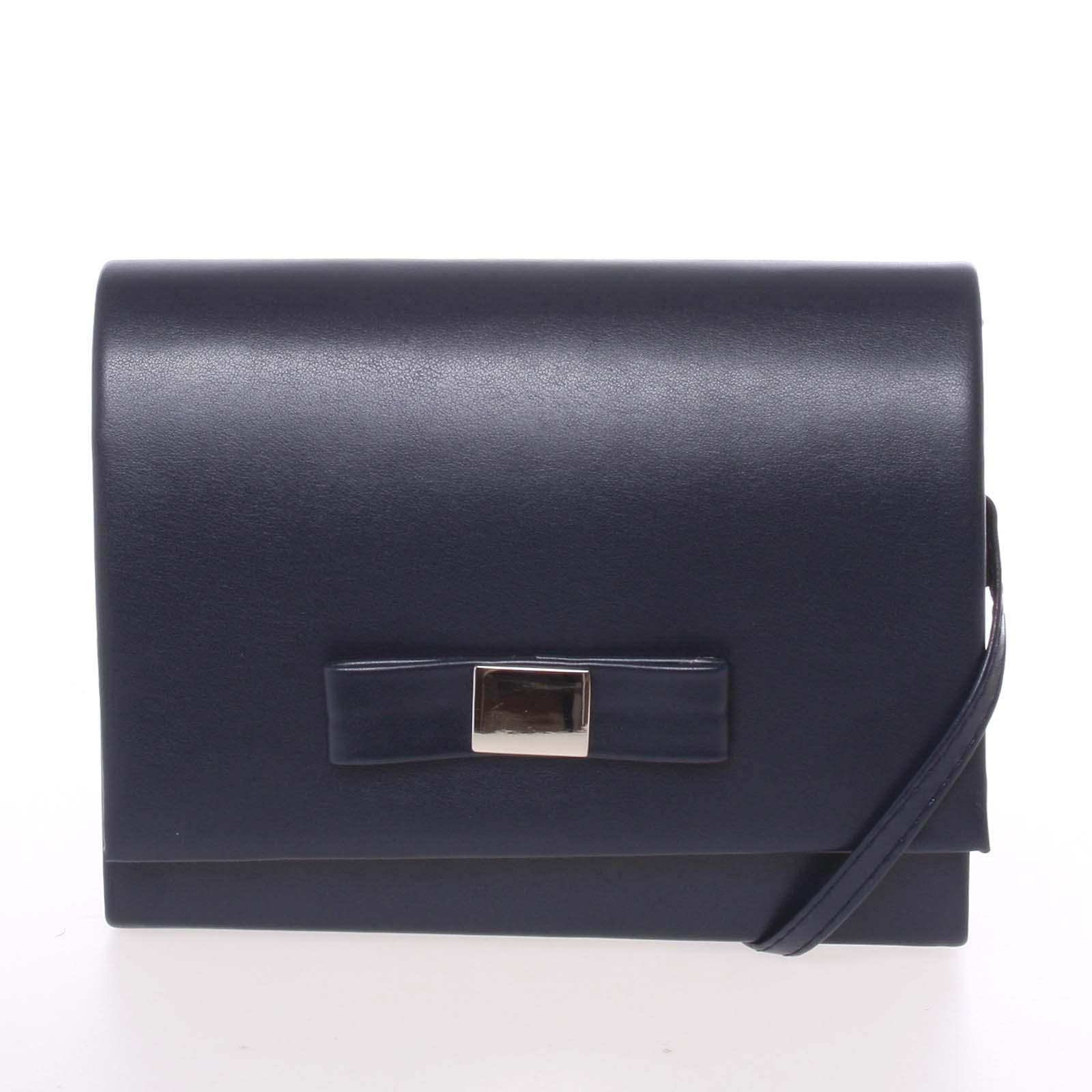 Luxusná dámska listová kabelka tmavomodrá matná - Delami Chicago Fresno