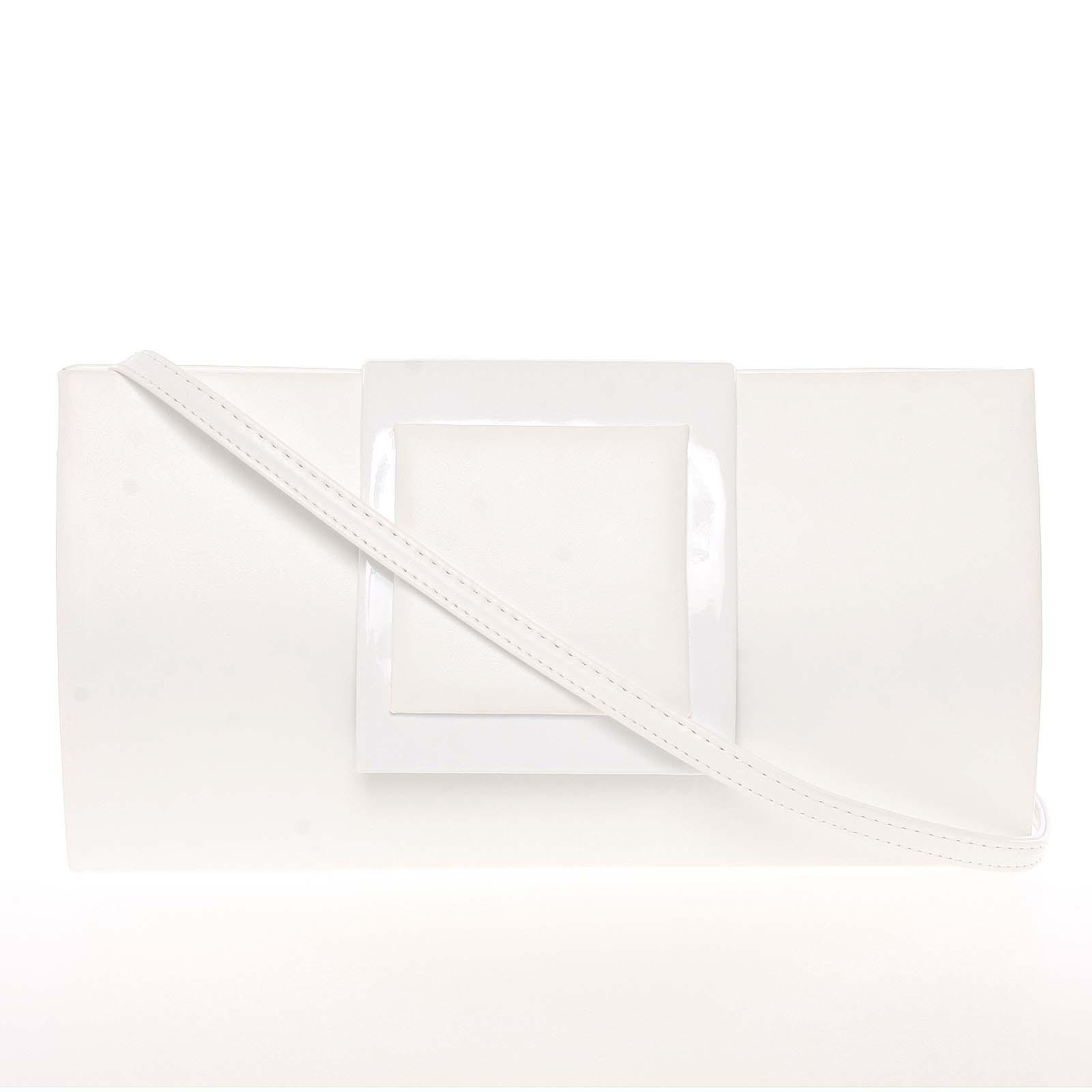 Dámska listová kabelka biela - Royal Style Erna