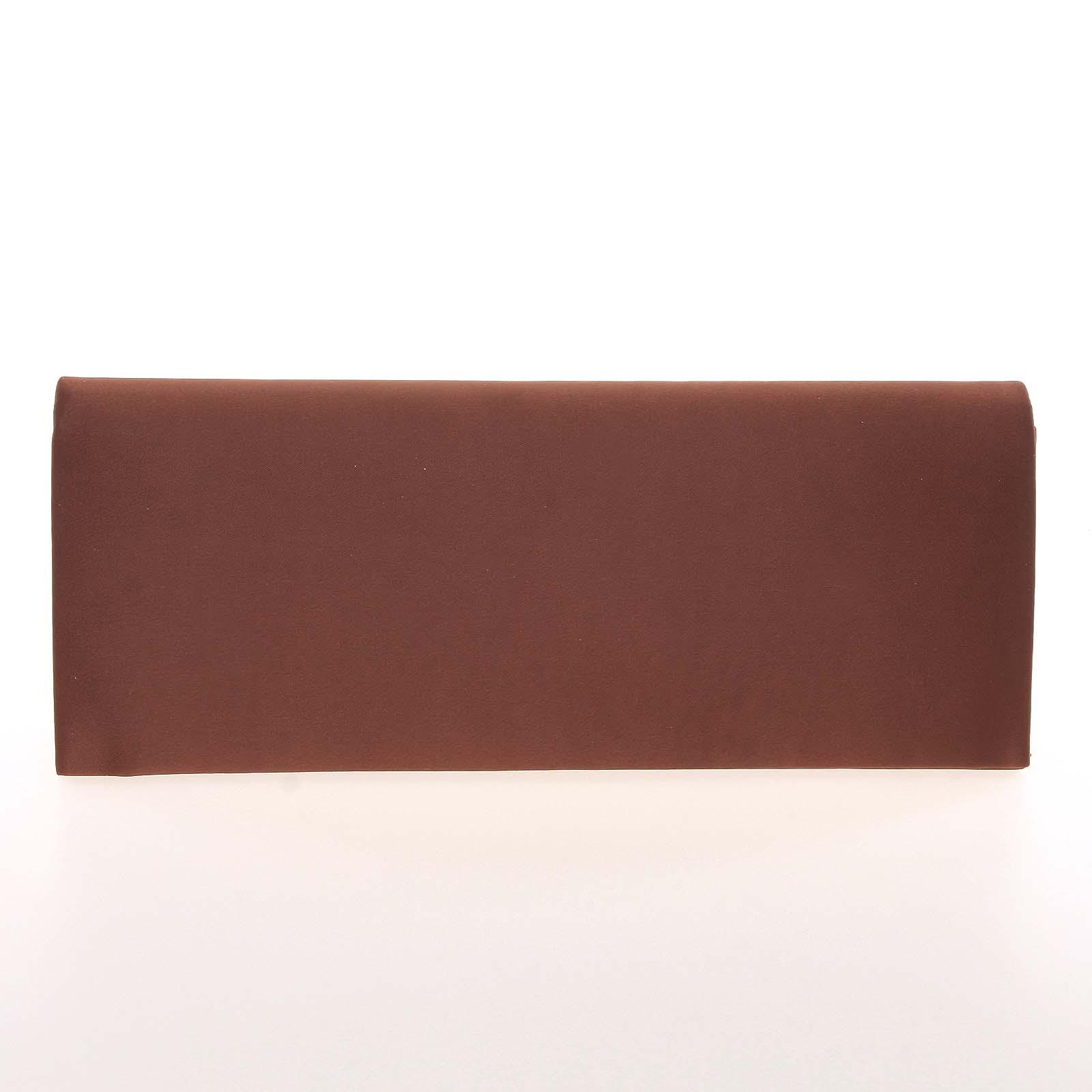 Decentná saténová listová kabelka kávovo hnedá - Delami P355