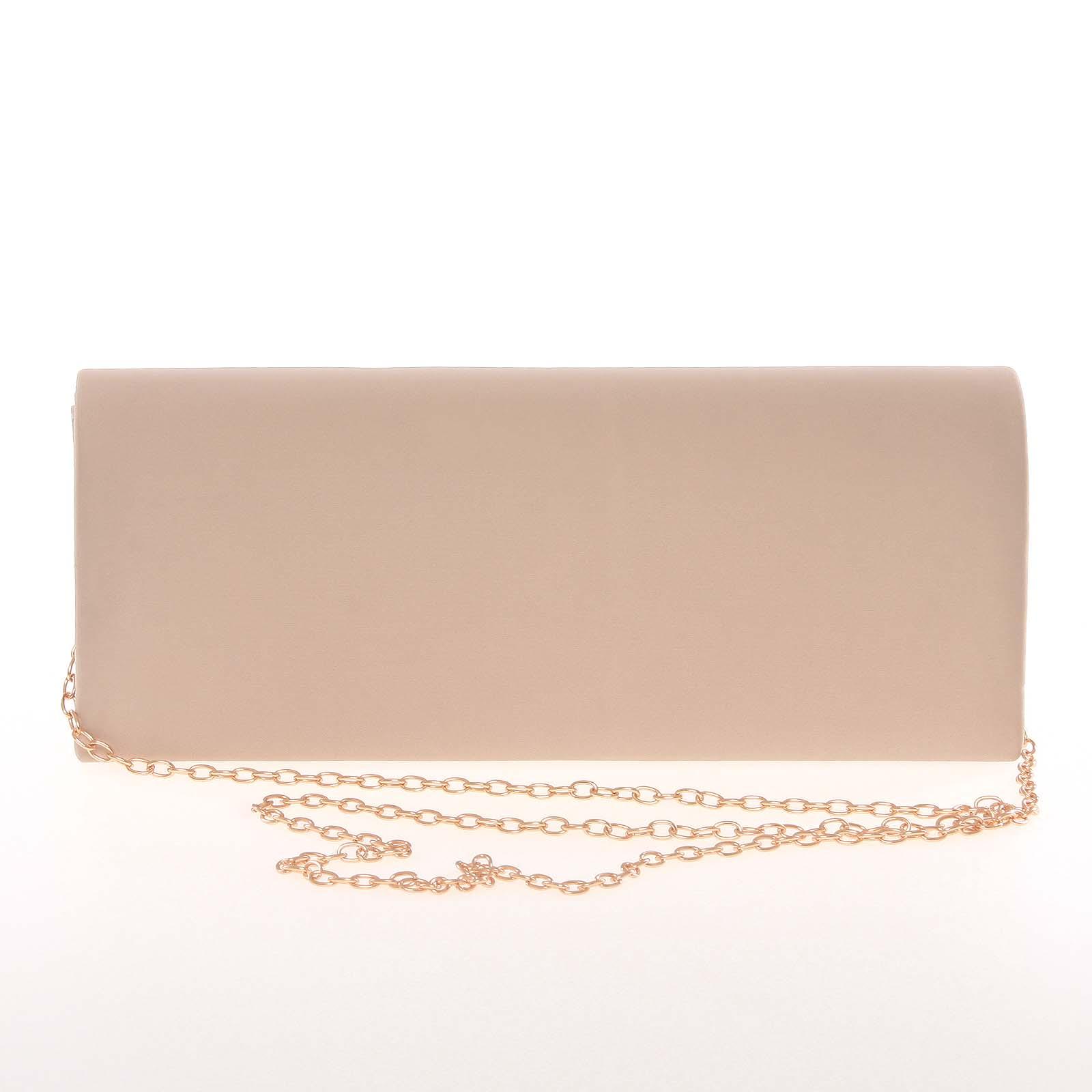 Decentná saténová listová kabelka tmavá marhuľová - Delami P355