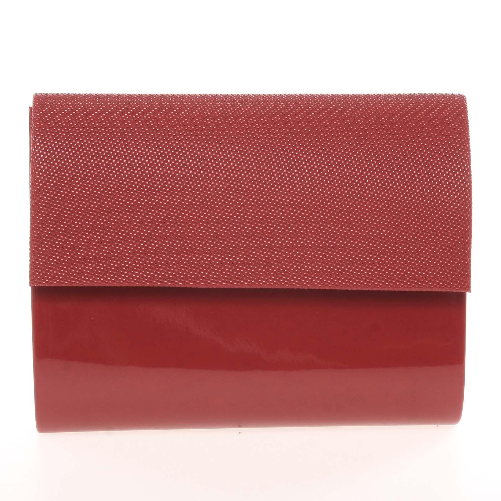 Stredná dámska elegantná listová kabelka vínová lesklá so vzorom - Delami Sandiego