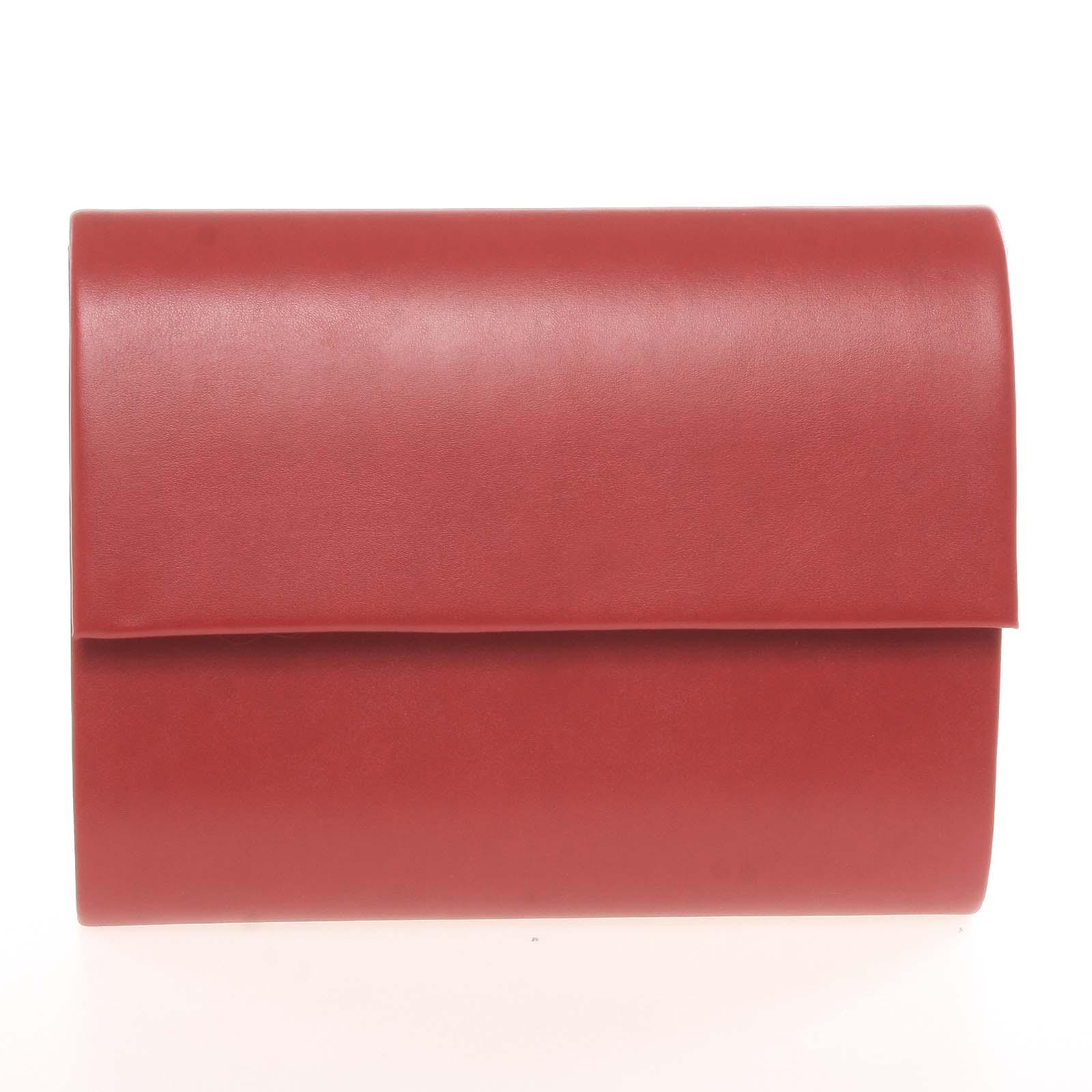 Stredná dámska elegantná listová kabelka červená matná - Delami Sandiego