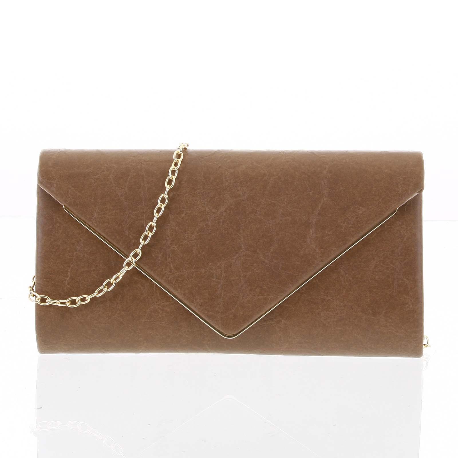 Štýlová dámska listová kabelka vzorovaná khaki - Delami HD743