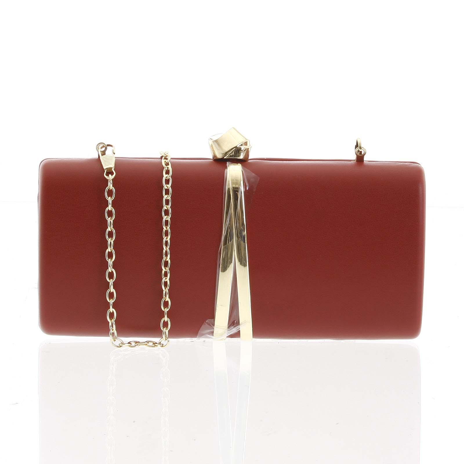 Exkluzívna malá dámska listová kabelka tmavočervená - Delami ZL2097