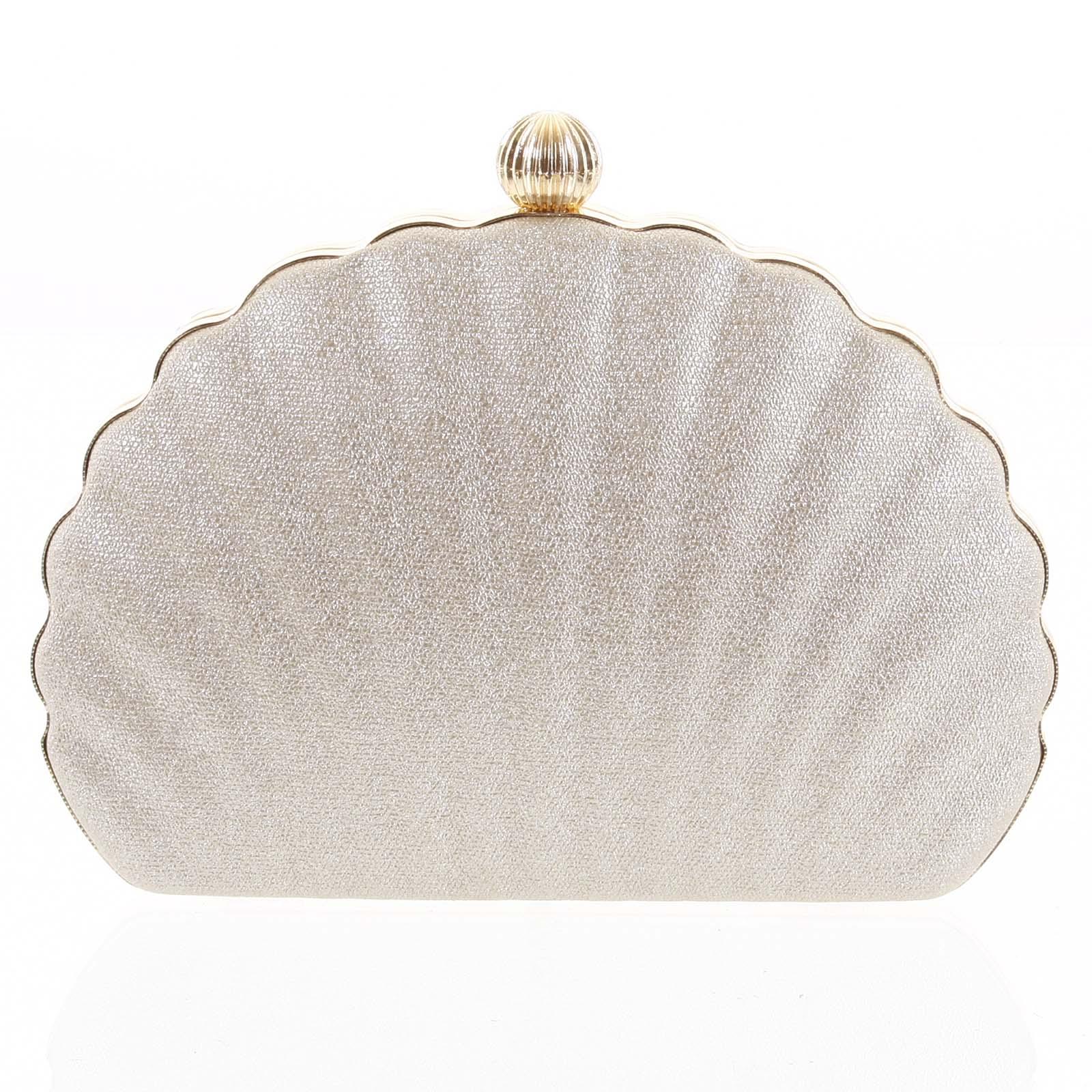 Dámska listová kabelka zlatá - Michelle Moon Seashell