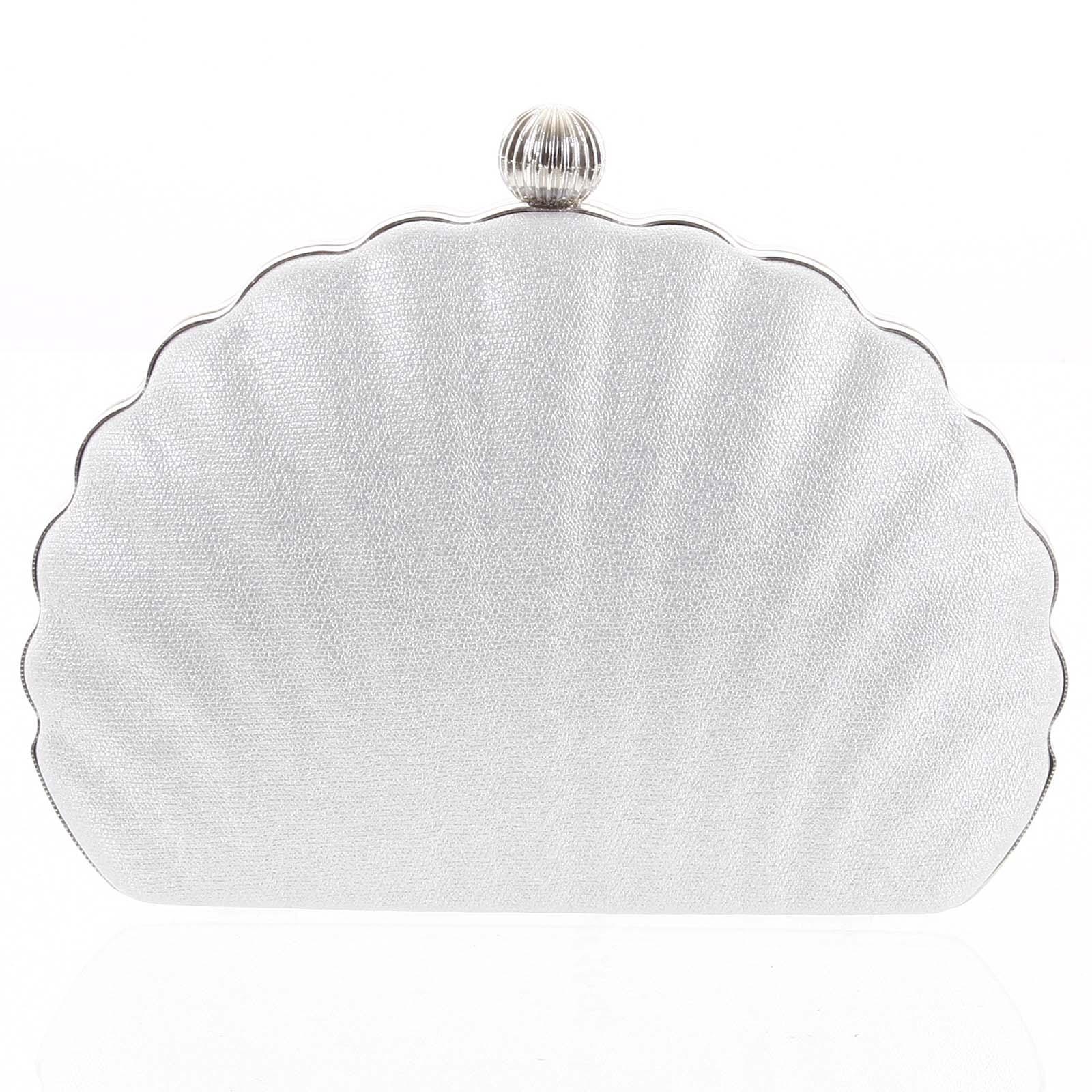 Dámska listová kabelka strieborná - Michelle Moon Seashell