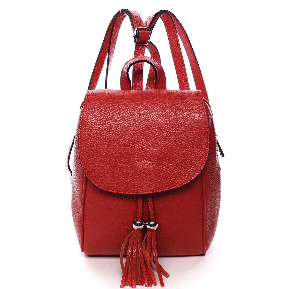Dámsky kožený batôžtek červený - ItalY Joseph