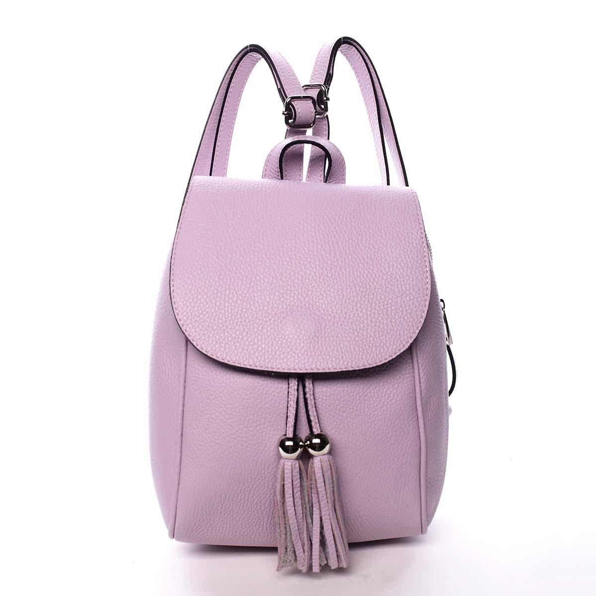 Dámsky kožený batôžtek fialový - ItalY Joseph