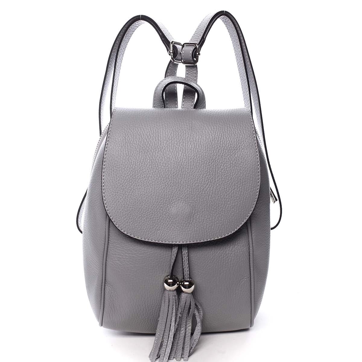 Dámsky kožený batôžtek sivý - ItalY Joseph