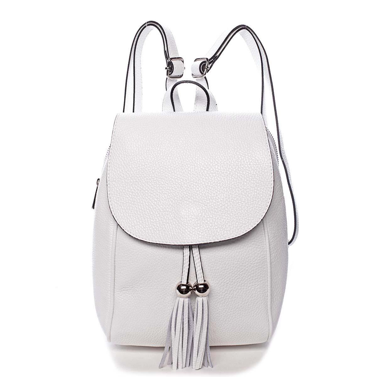 Dámsky kožený batôžtek biely - ItalY Joseph