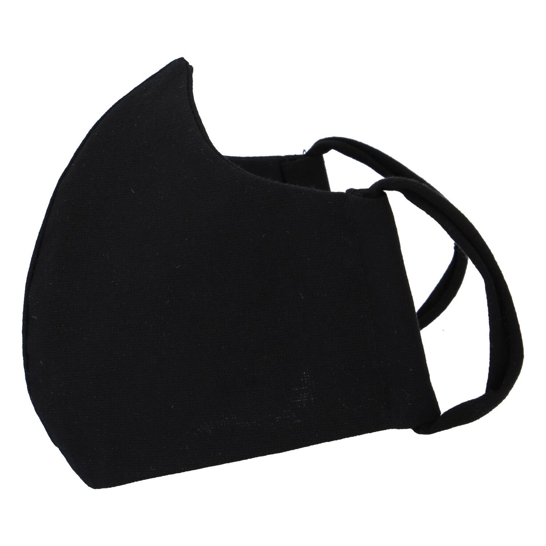 Obojstranné bavlnené rúško s aktívnym striebrom čierne - B&C AG M