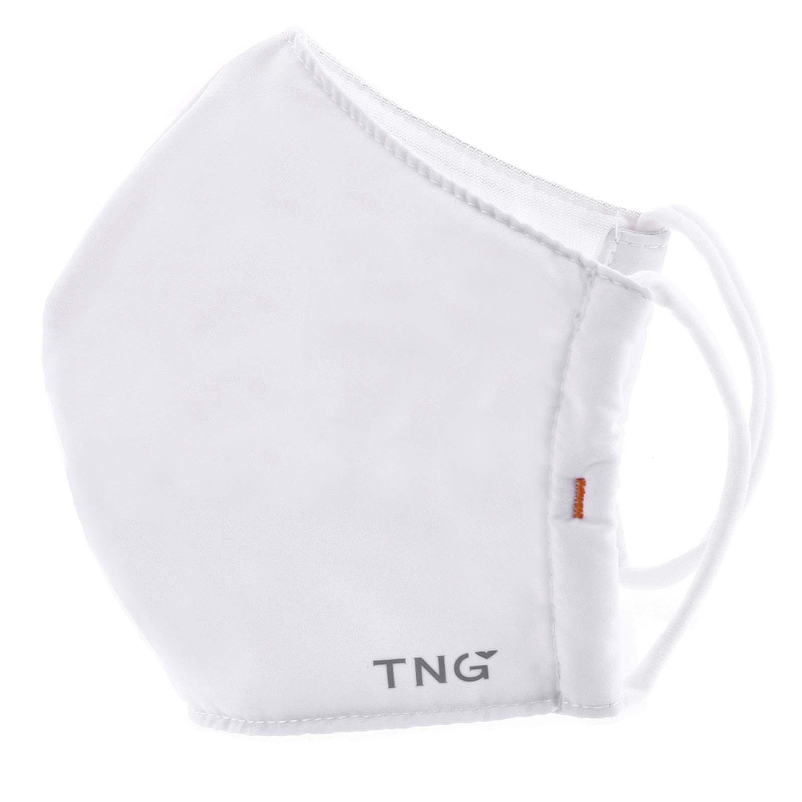 Štýlové antibakteriálne trojvrstvové rúško biele - TNG L