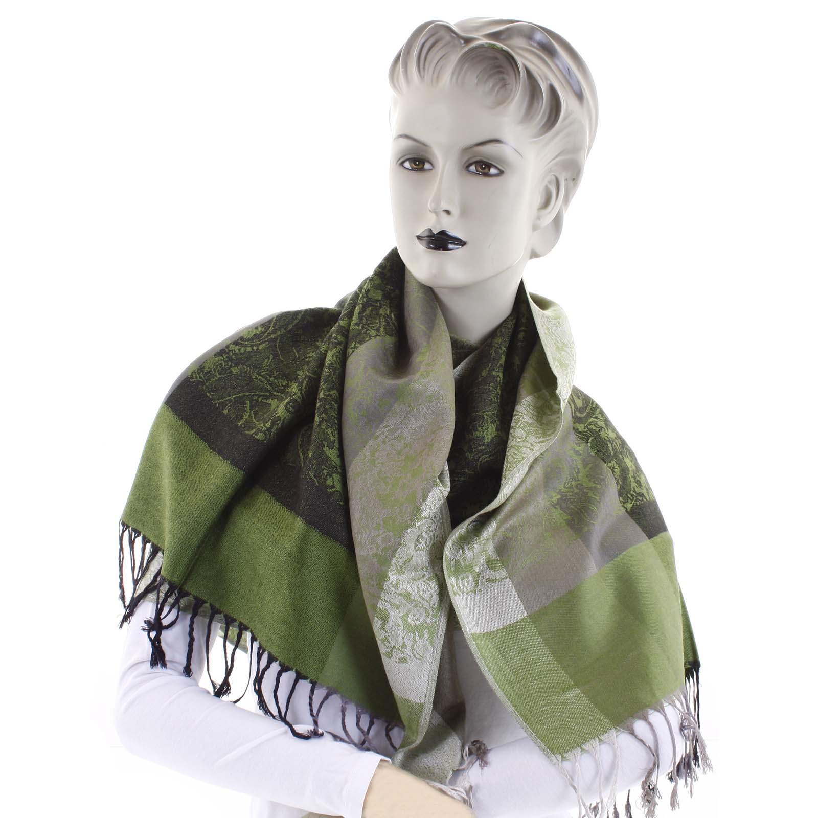 Dámsky kašmírový šál zelený - CASH Bonnie