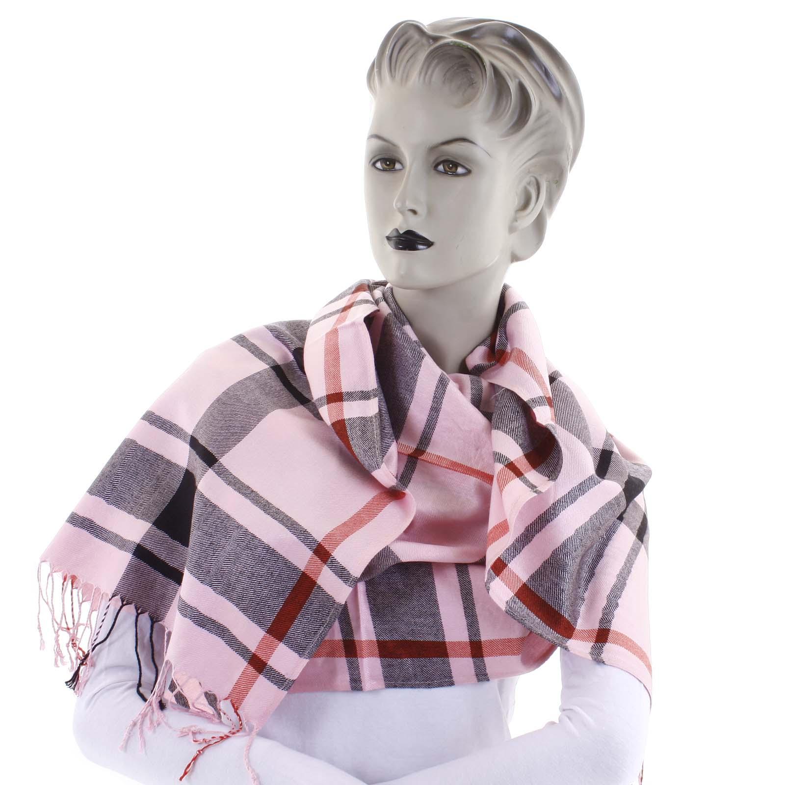 Dámsky kašmírový šál ružový - CASH Jenefer