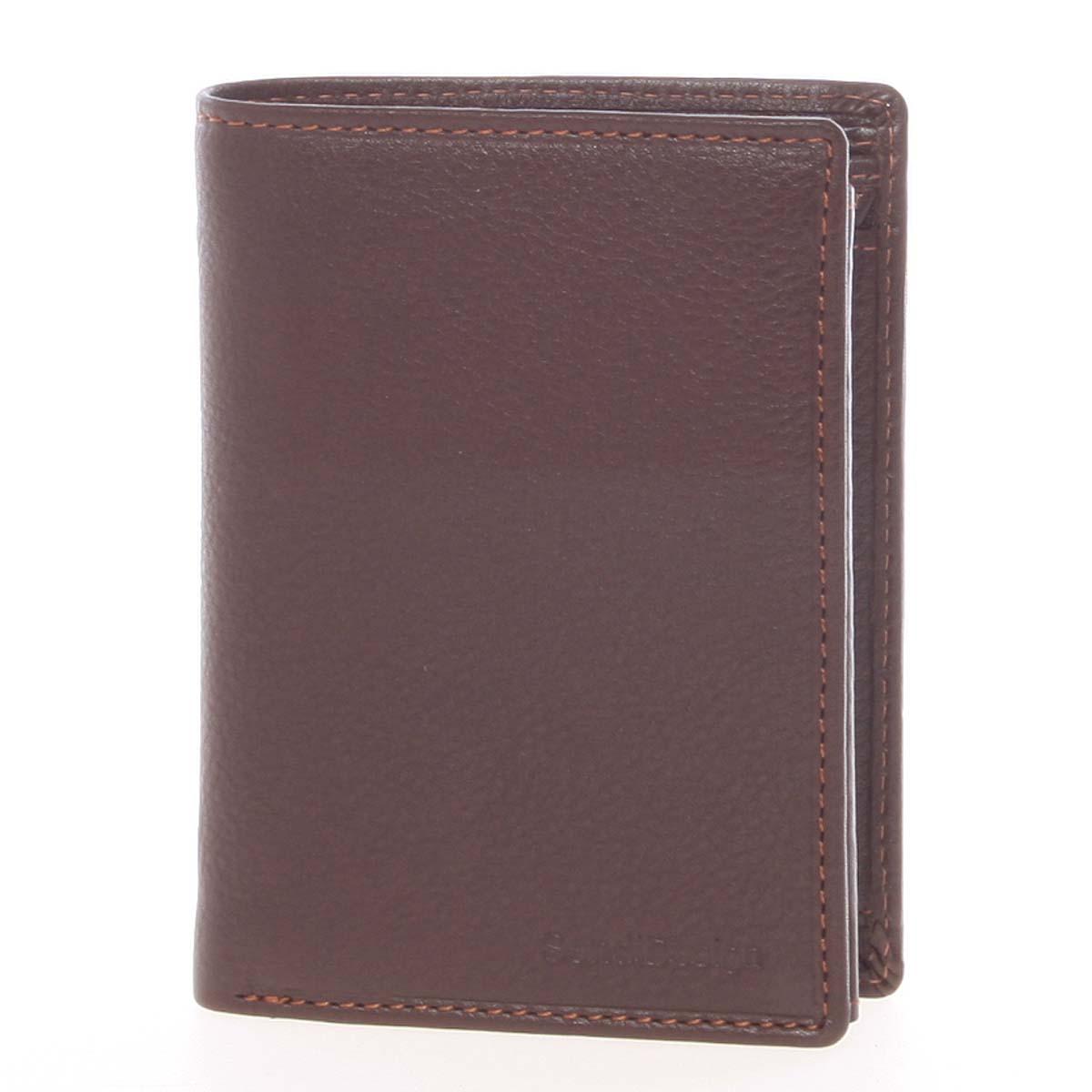 Voľná pánska kožená peňaženka hnedá - SendiDesign Priam