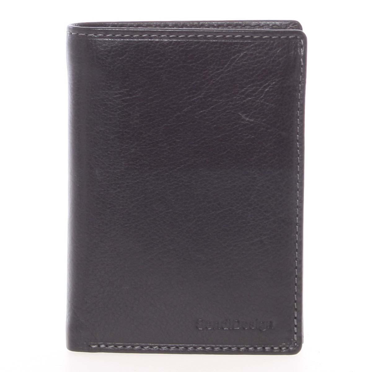 Voľná pánska kožená peňaženka čierna - SendiDesign Priam