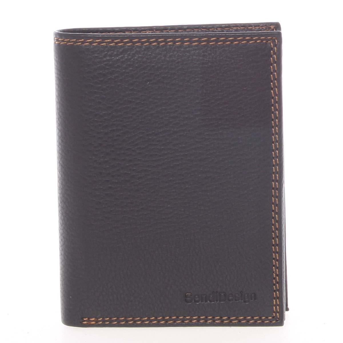 Luxusná pánska kožená čierna voľná peňaženka - SendiDesign Rodion